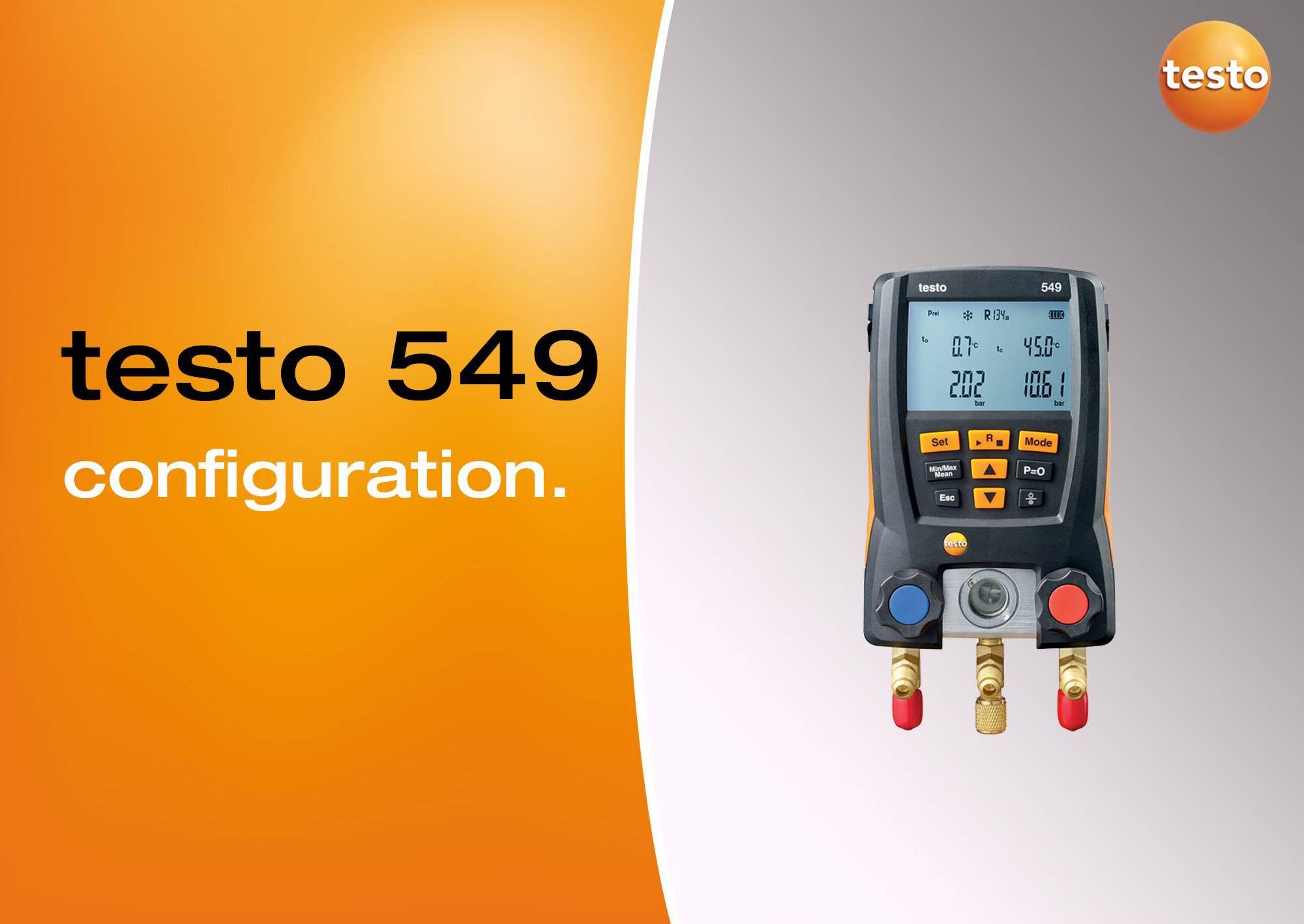 Tutoriel vidéo configuration manomètre testo 549