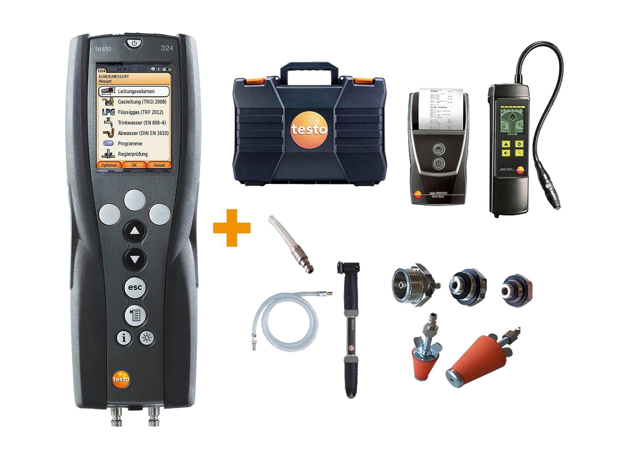 testo 324 přístroj pro měření množství úniku