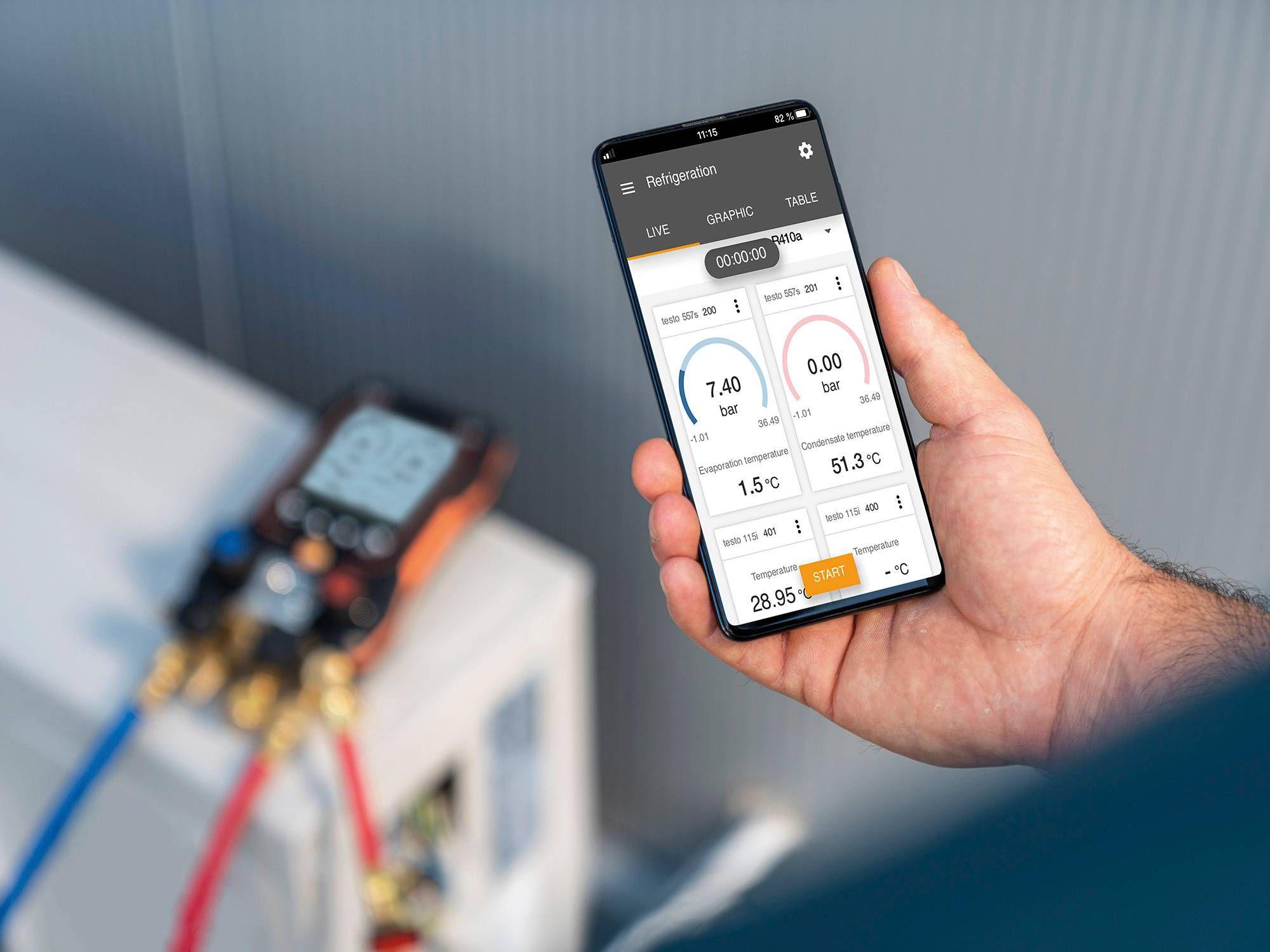 testo Smart App digital manifolds