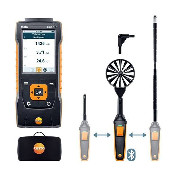 testo 440 delta P Air Flow ComboKit 2 with Bluetooth