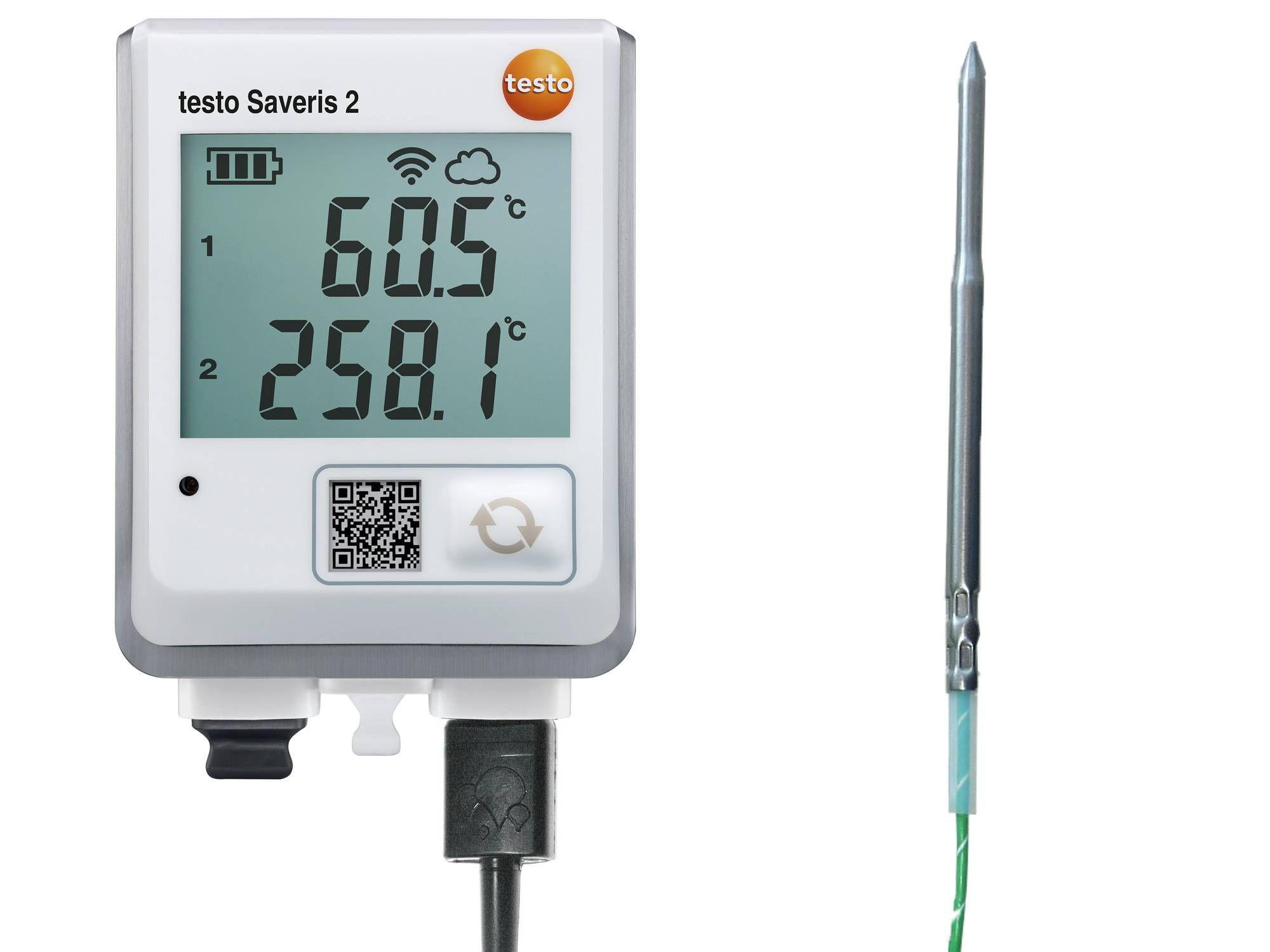 Registrador de datos WiFi testo Saveris 2-T3 + Sonda criogénica