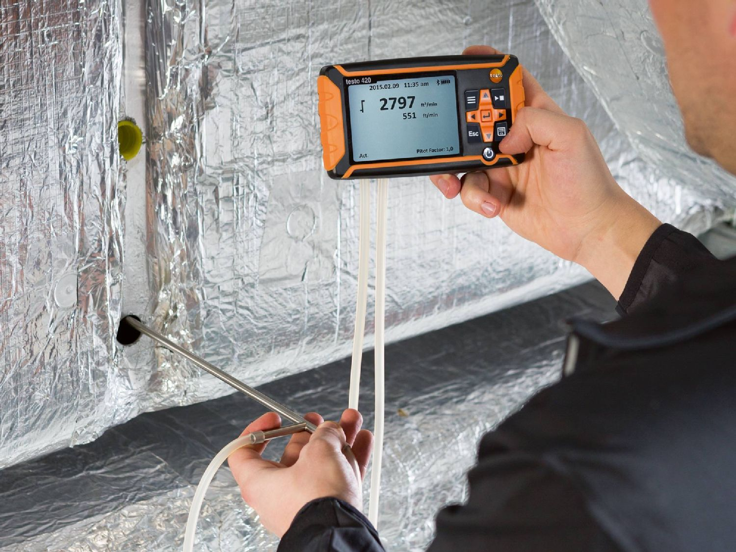 Testo's differential pressure measuring device