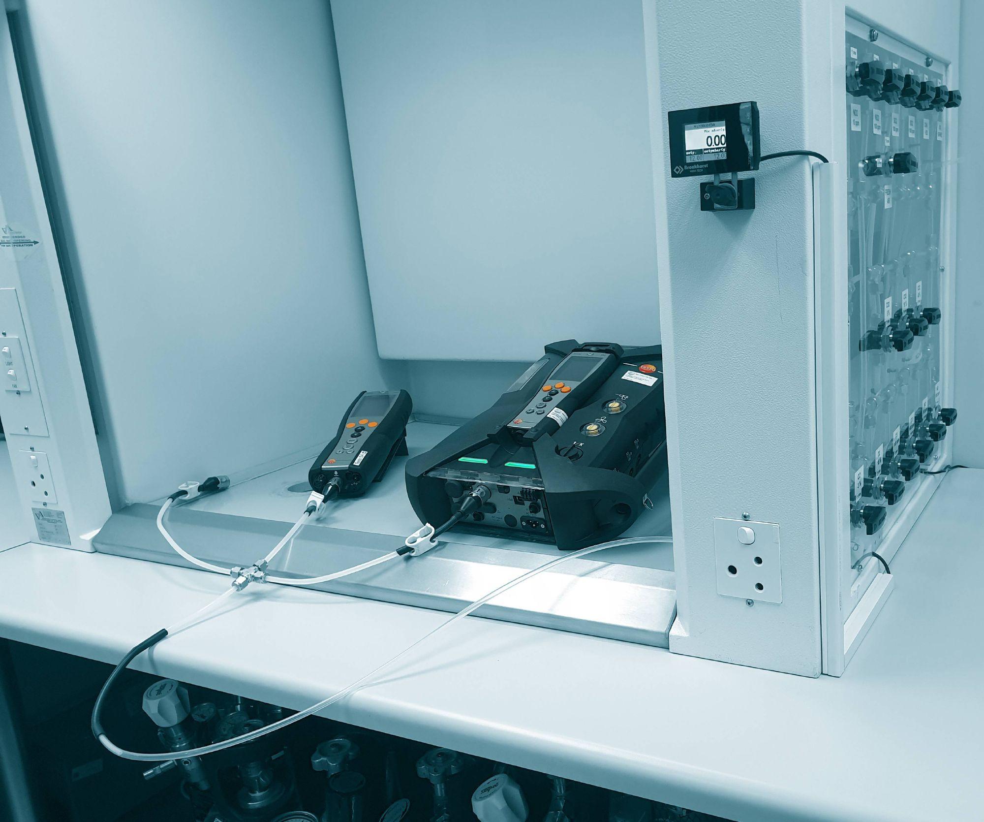 Testo flue gas analyzer calibration service