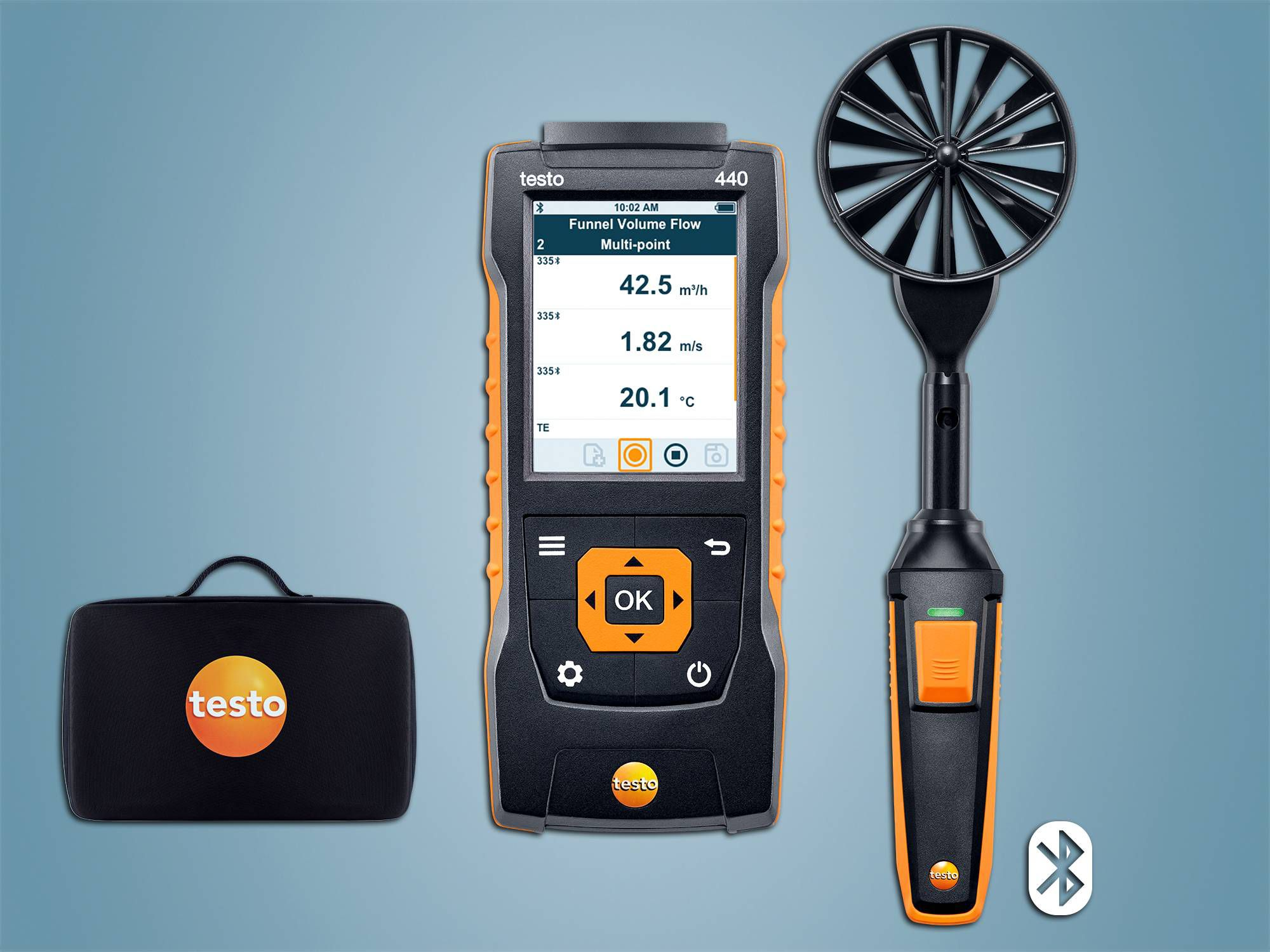 testo 440 100 mm Vane Kit with Bluetooth