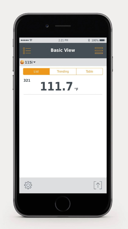 app screenshot testo 115i