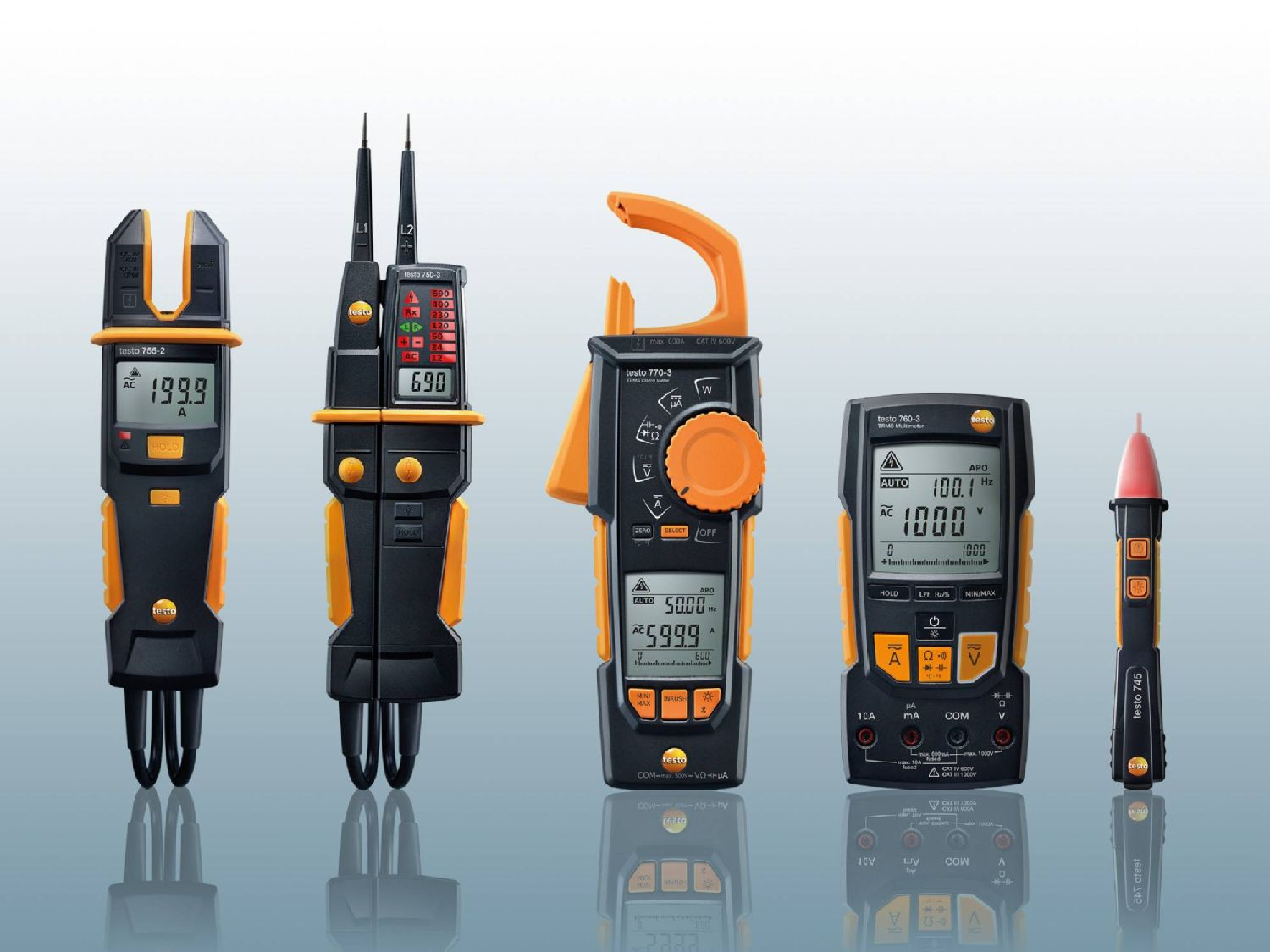 Voltage testers, current tester tester, clamp meter and multimeter