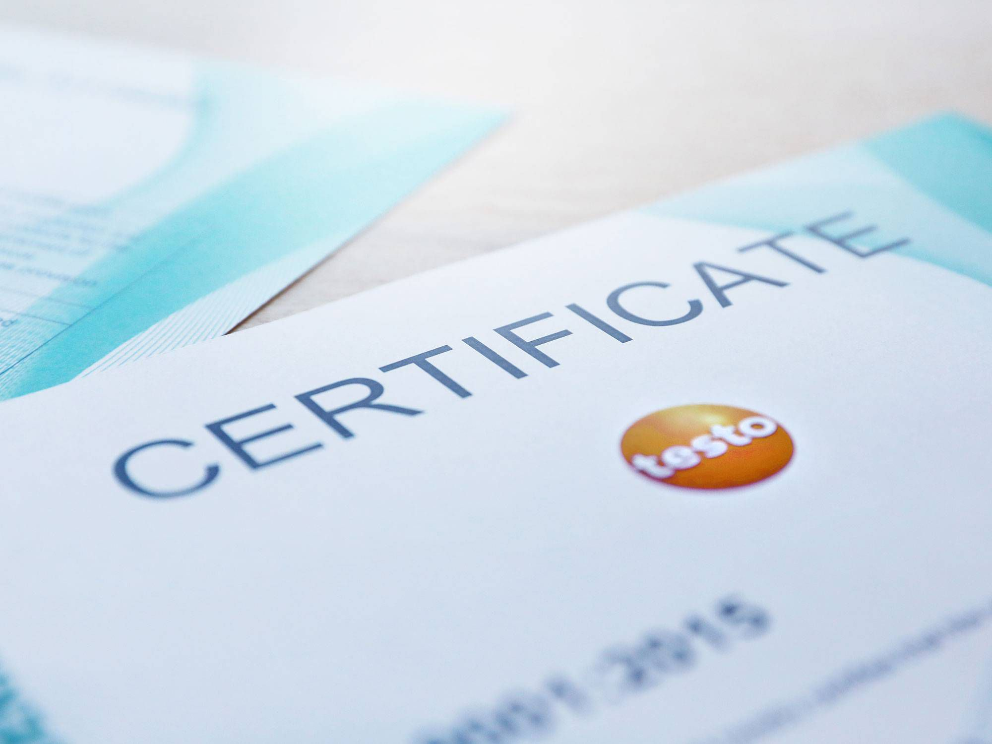 Certifications and certificates at Testo