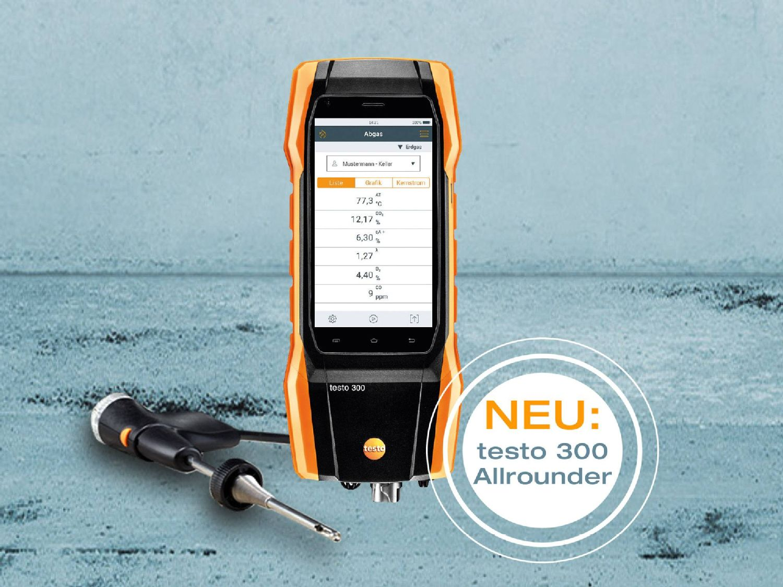 Das neue Abgasmessgerät testo 300 Allrounder