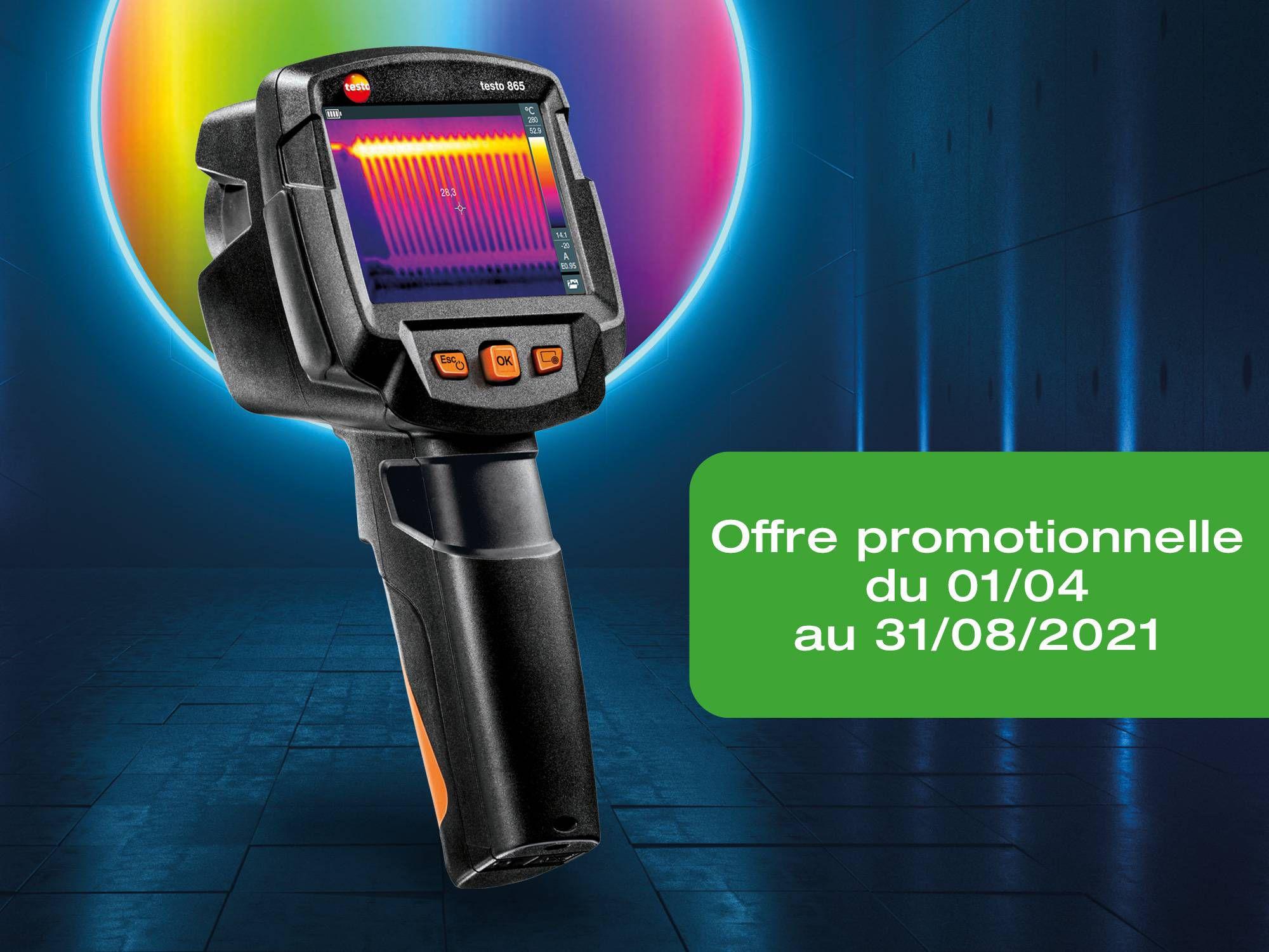 Offre promotionnelle achat caméra thermique testo 865 jusqu'au 31/08/2021