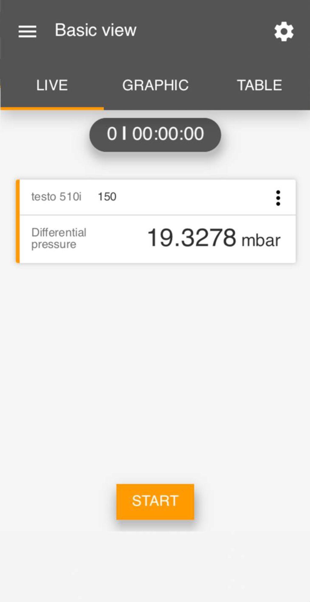 Aplicativo de medição de aquecimento de tela Testo Smart