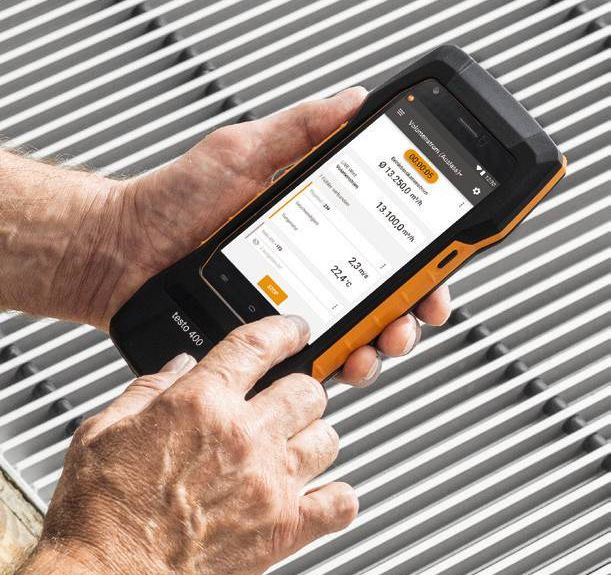 testo 400 Touch Display Bedienung
