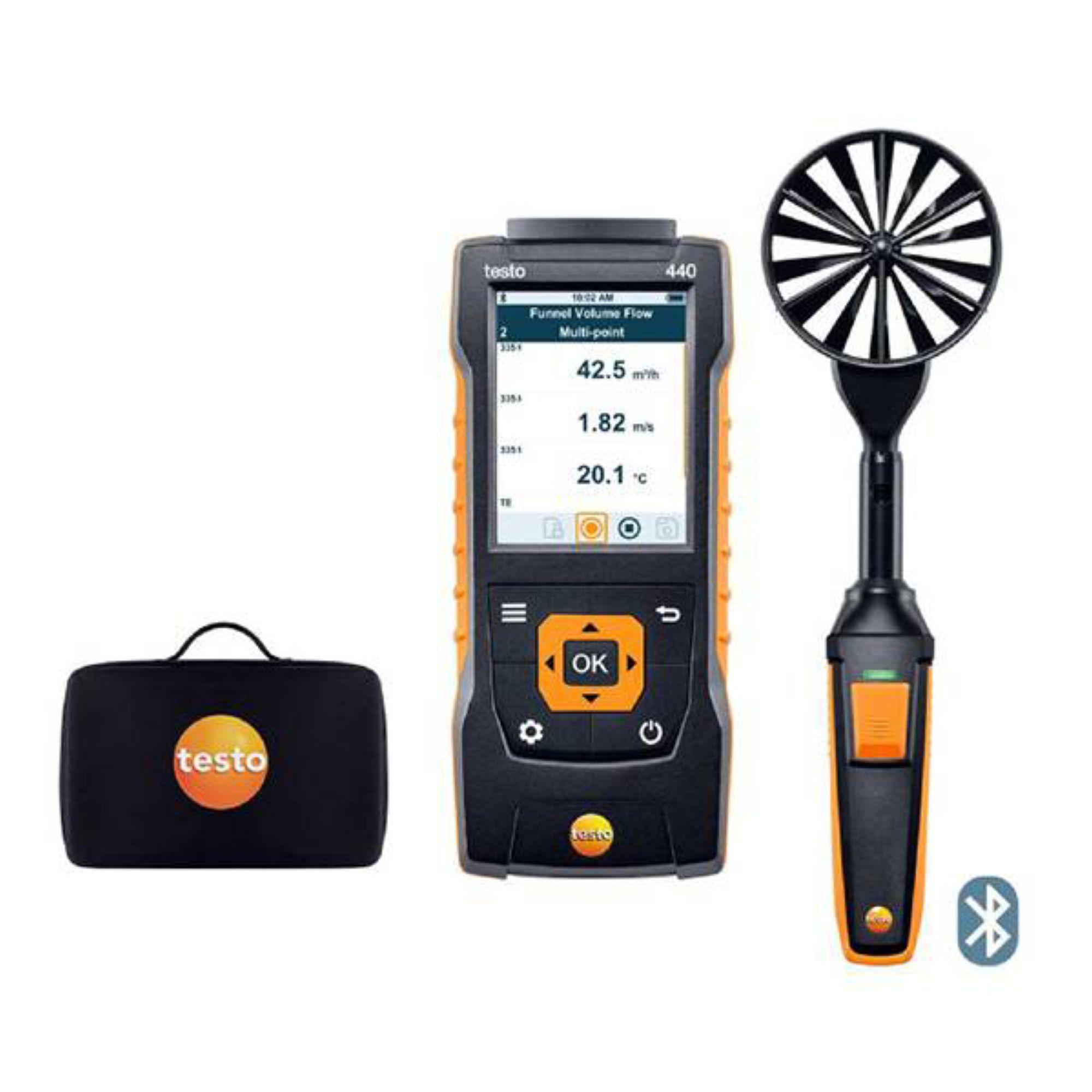 testo 440 100mm Vane Kit with Bluetooth