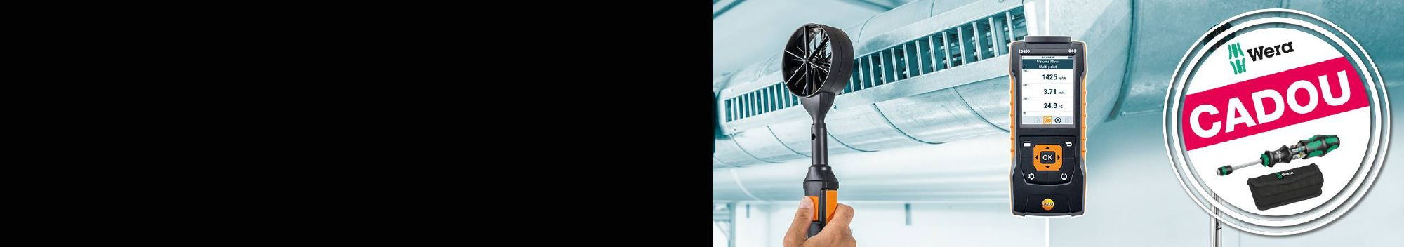 Măsurarea vitezei aerului.<br /> <strong>Simplu și rapid.</strong>