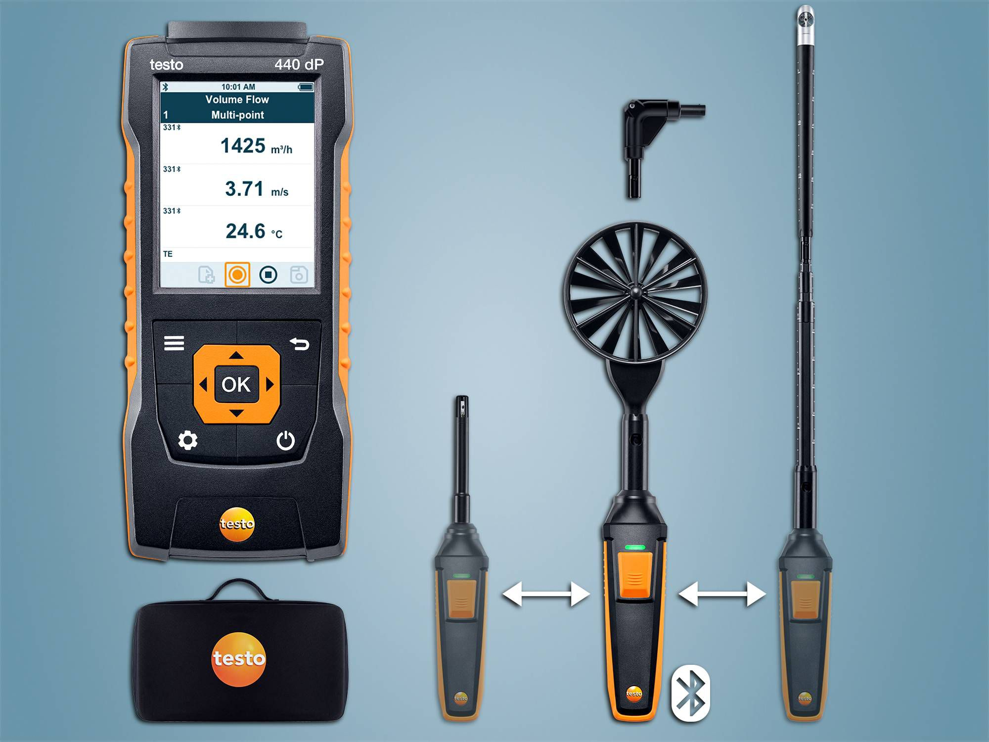 testo 440 dP Stromings-CombiSet 2 met Bluetooth