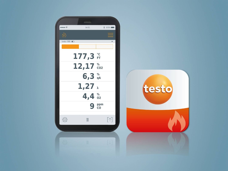 testo 330i App und testo Abgas App