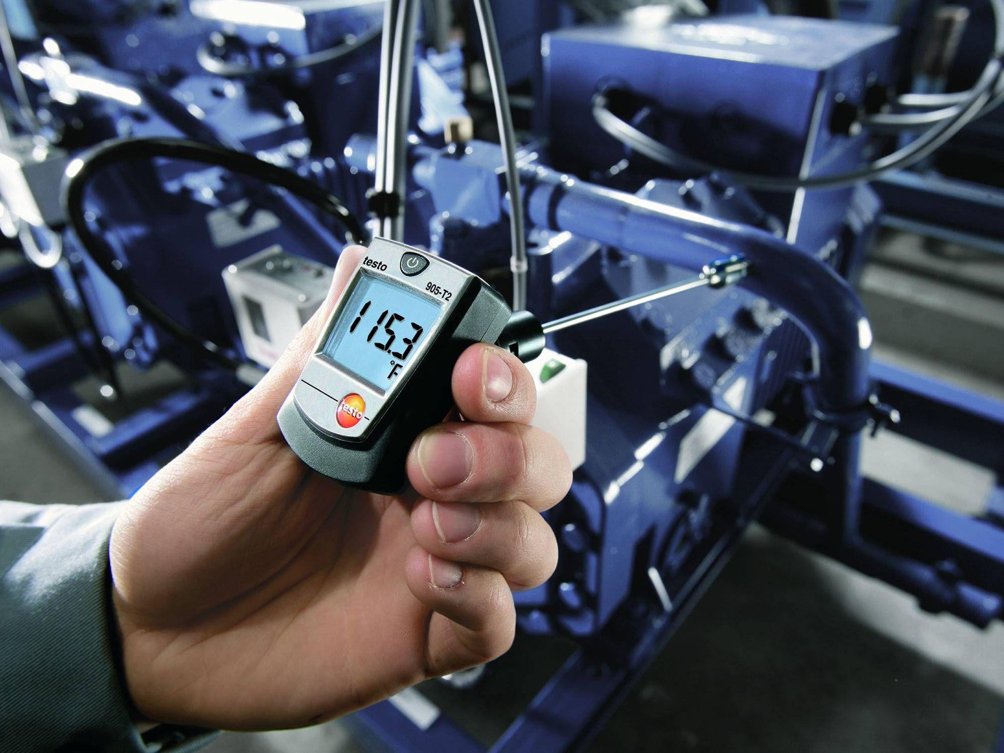 Medir la temperatura superficial con Testo