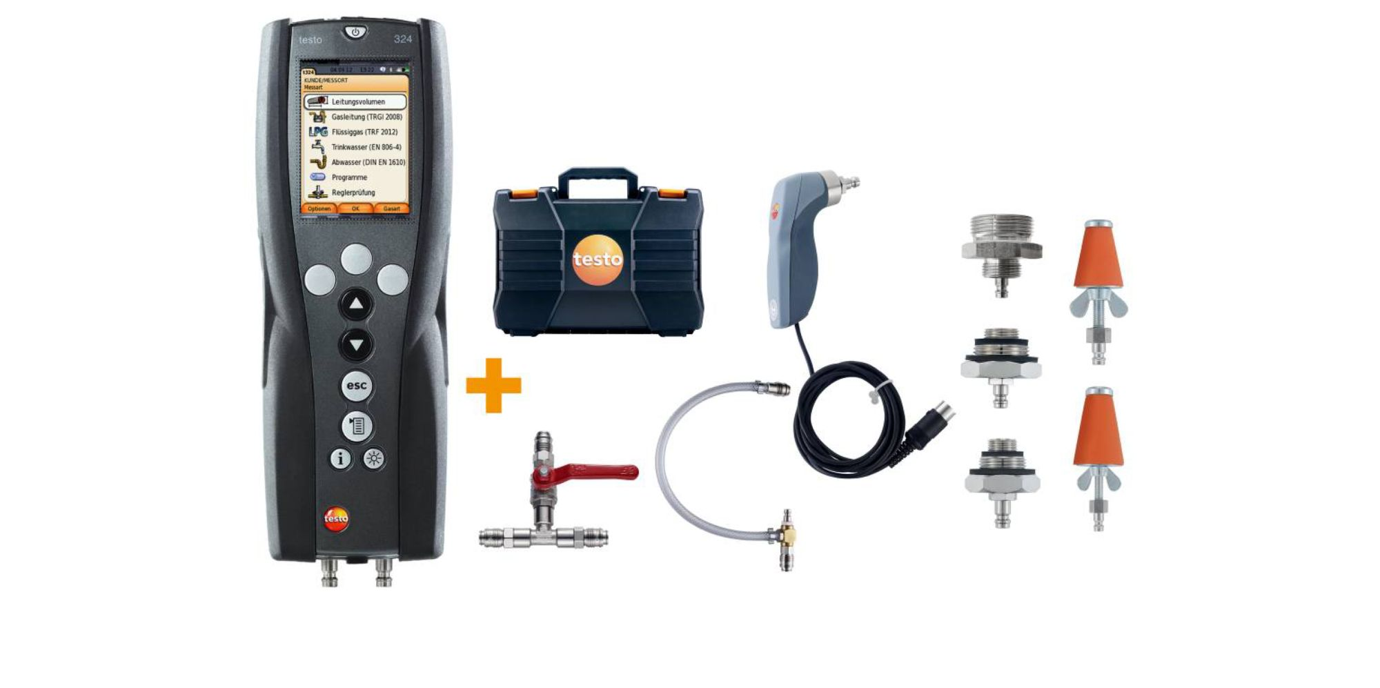 testo 324 gas and water set