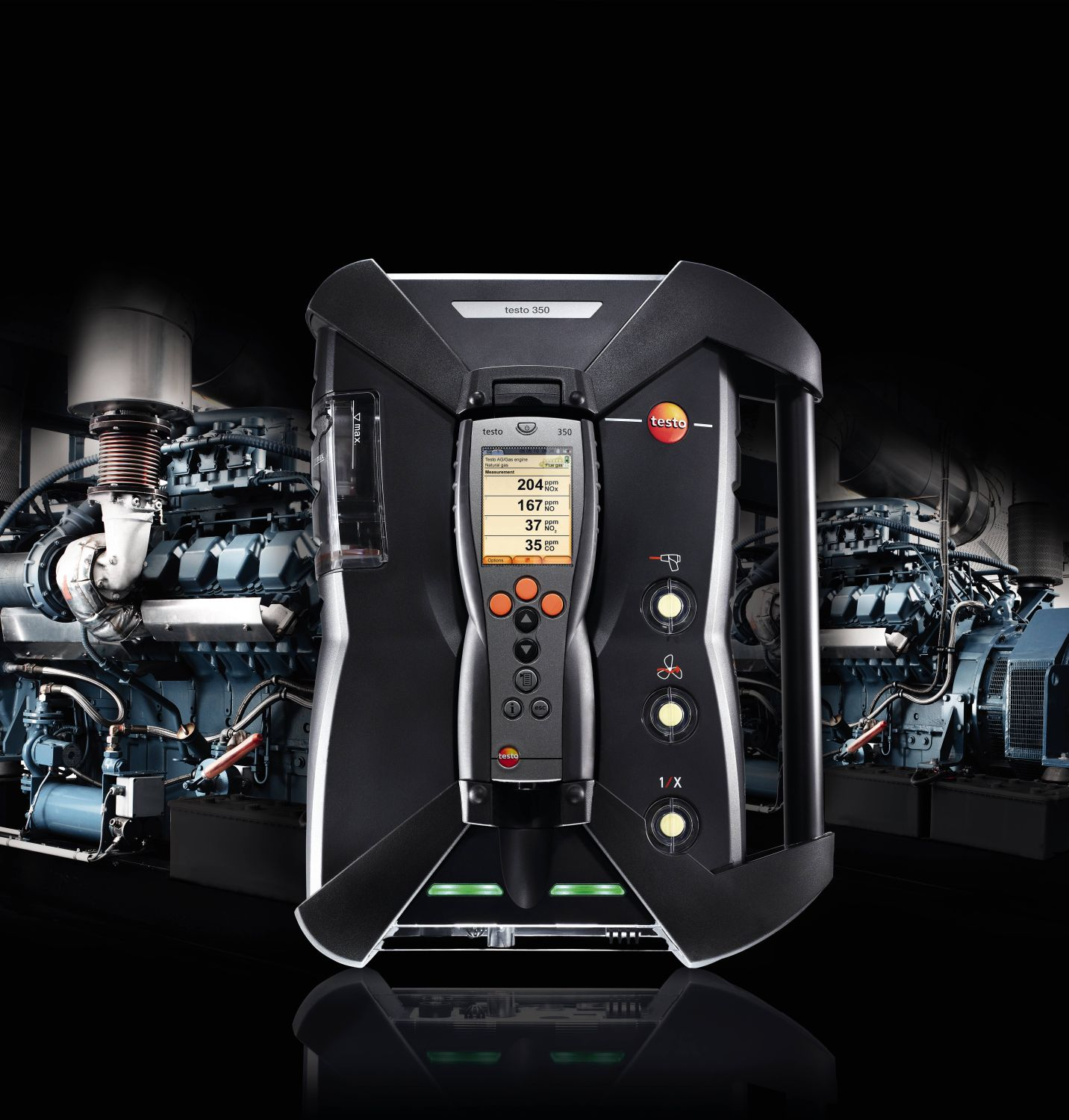 Emission measurement on CHP systems with testo 350