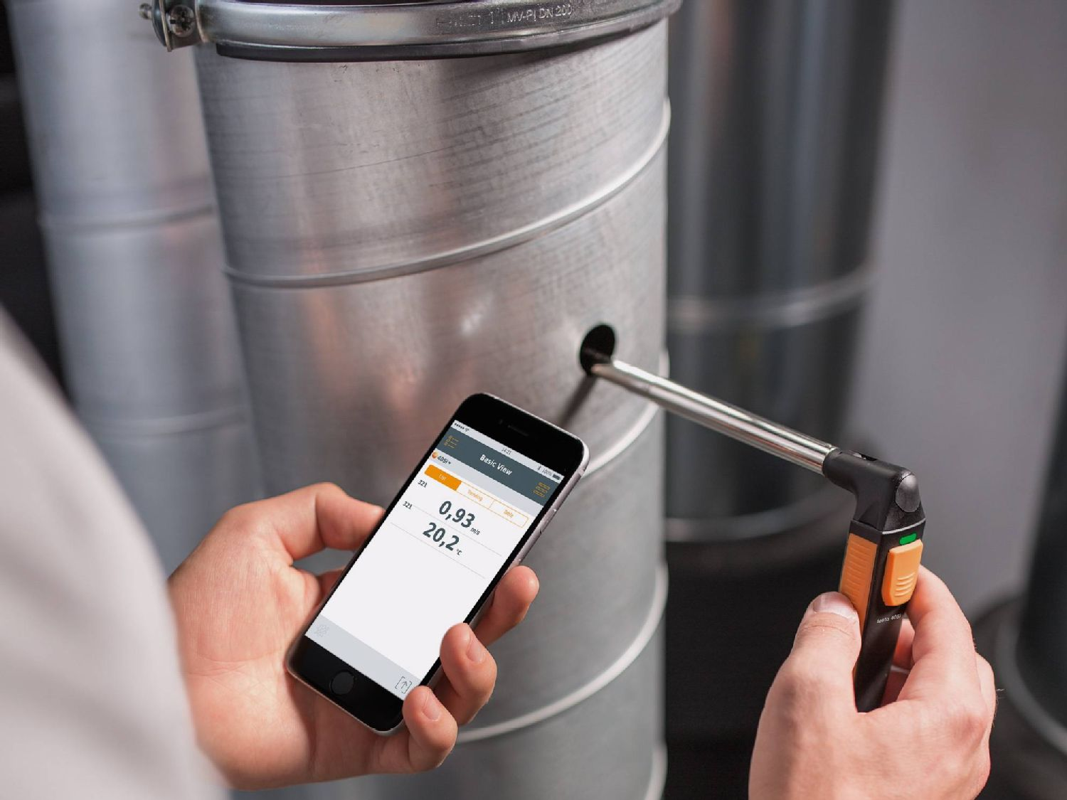 testo 405i – thermal anemometer operated by smartphone