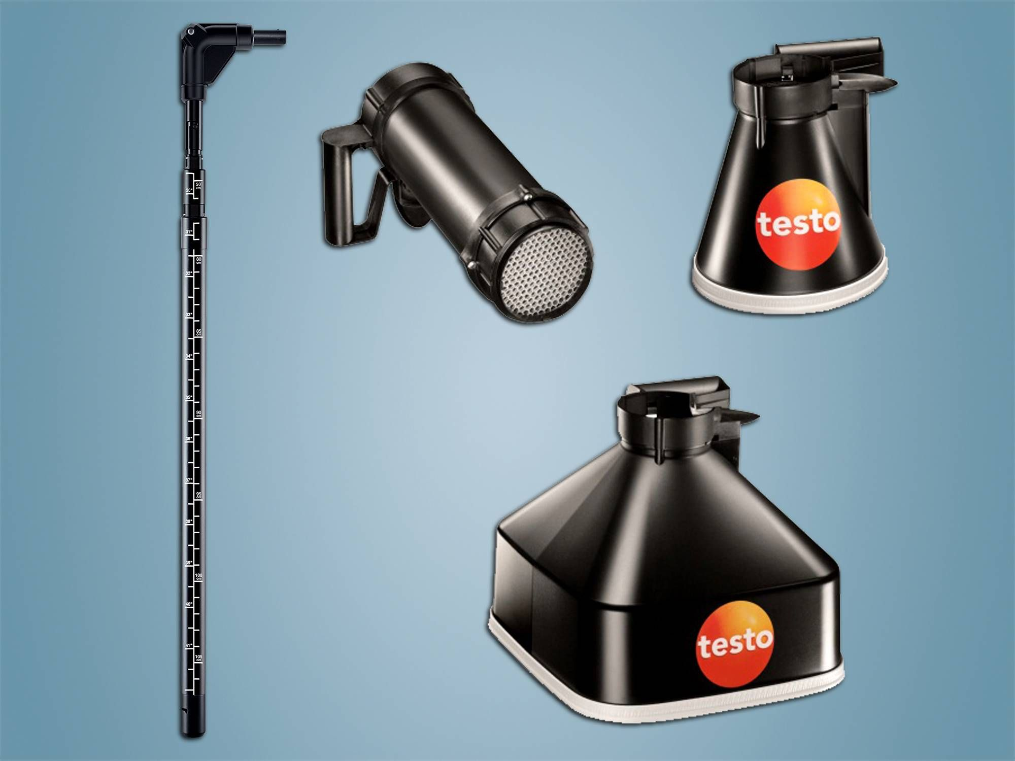 Telescopes, funnels and flow straighteners from Testo