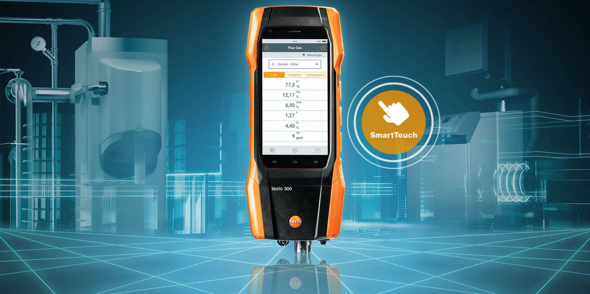 The testo 300 flue gas analyzer