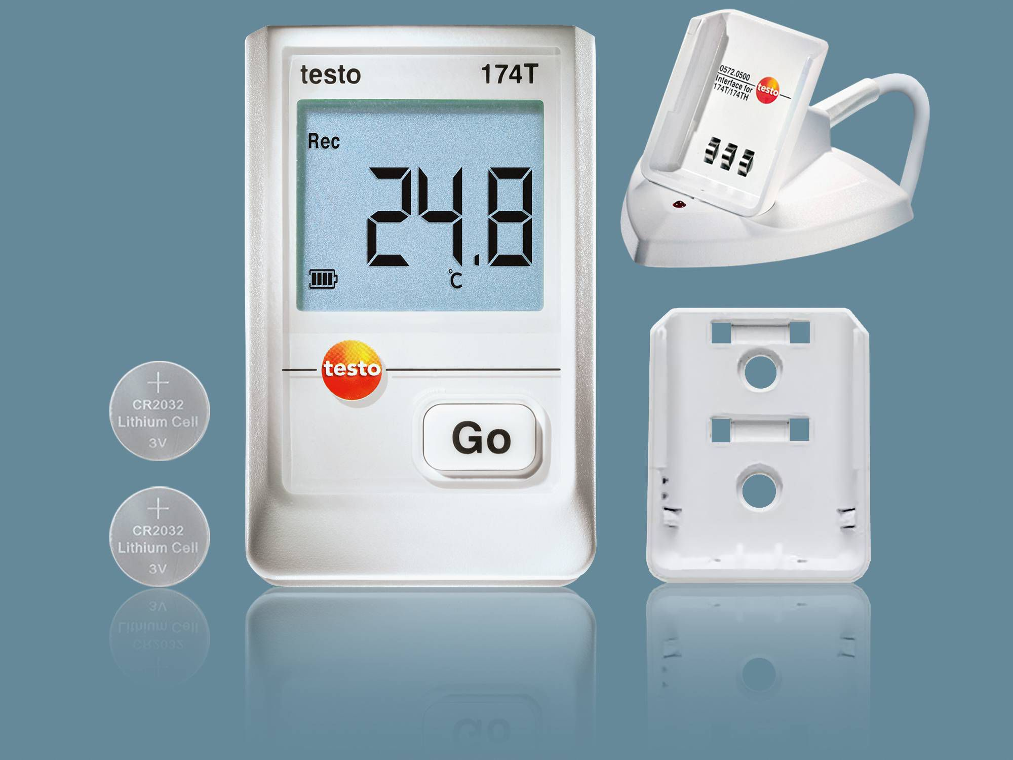 Temperature data logger for the storage of food testo 174 T kit