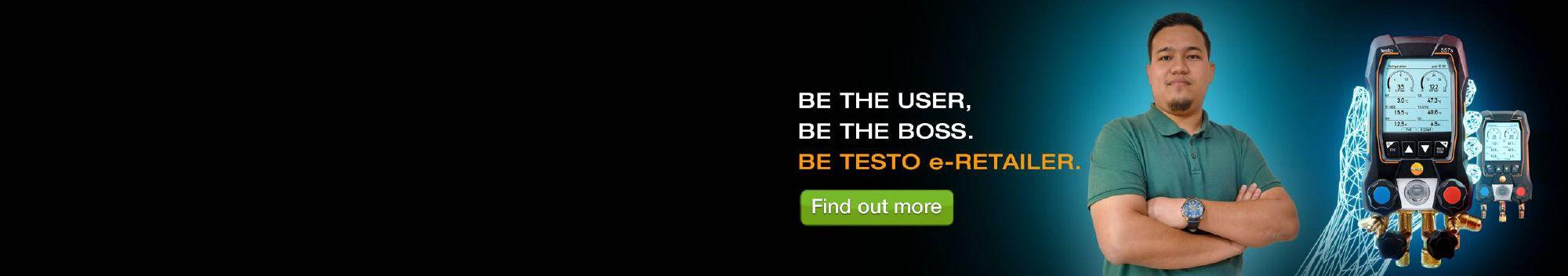 Sign up and become <br /><b>Testo e-Retailer.</b>