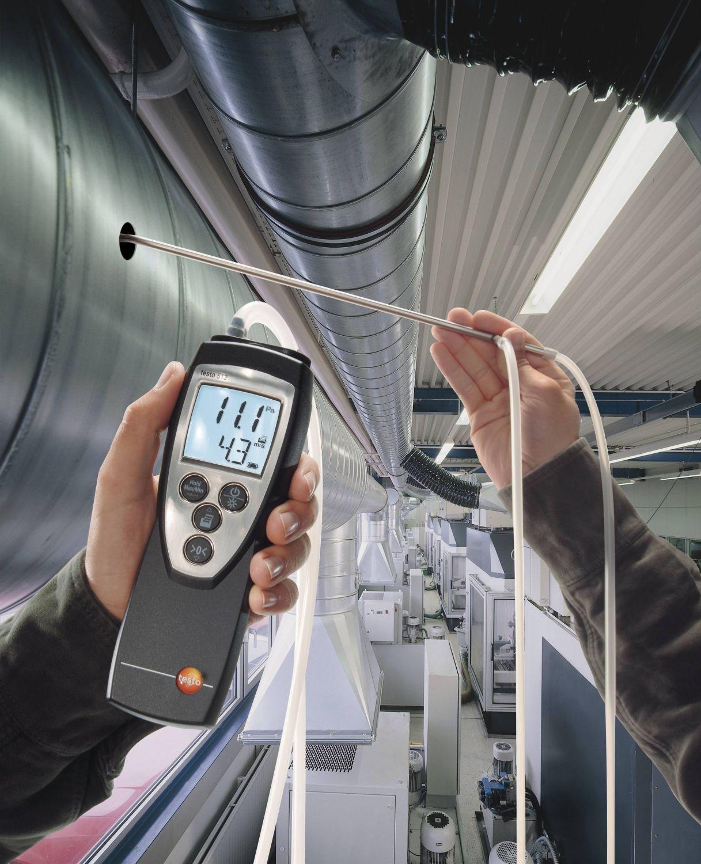 Medición en conductos de climatización con el testo 512