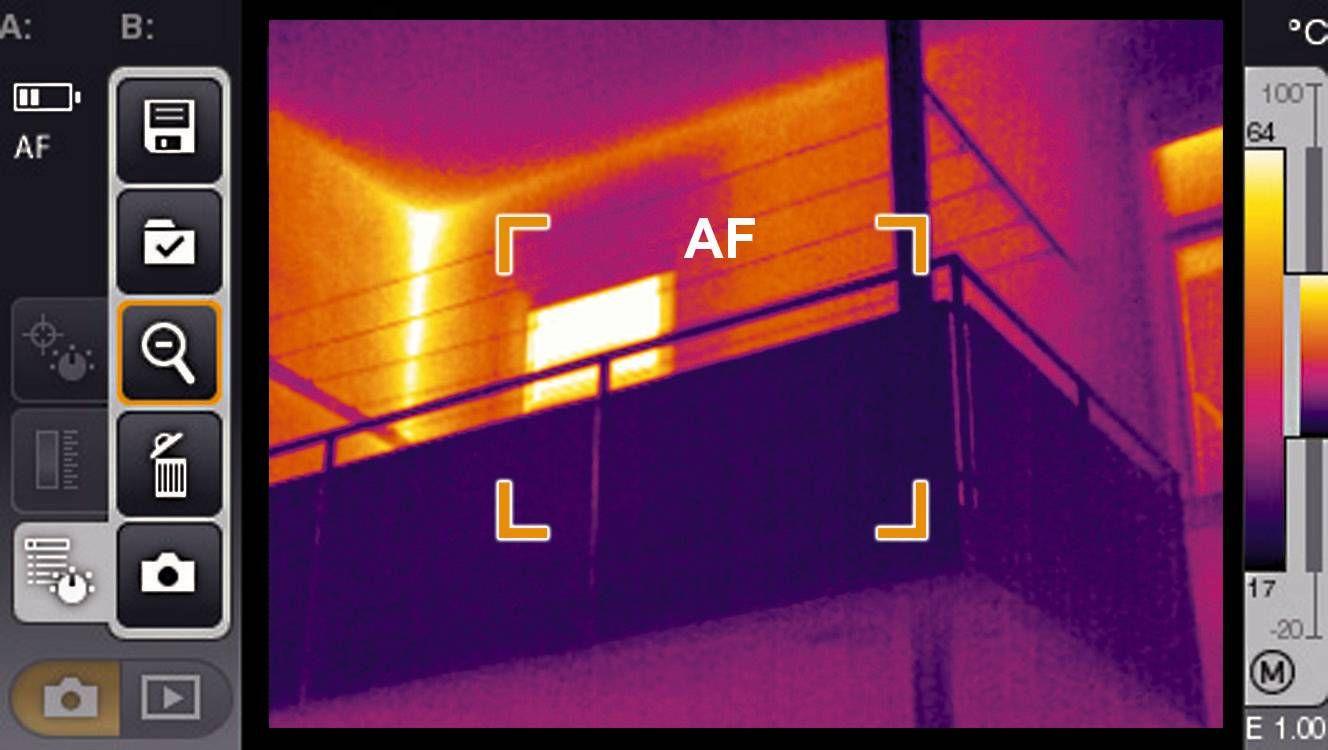 Immagine termica BlowerDoor