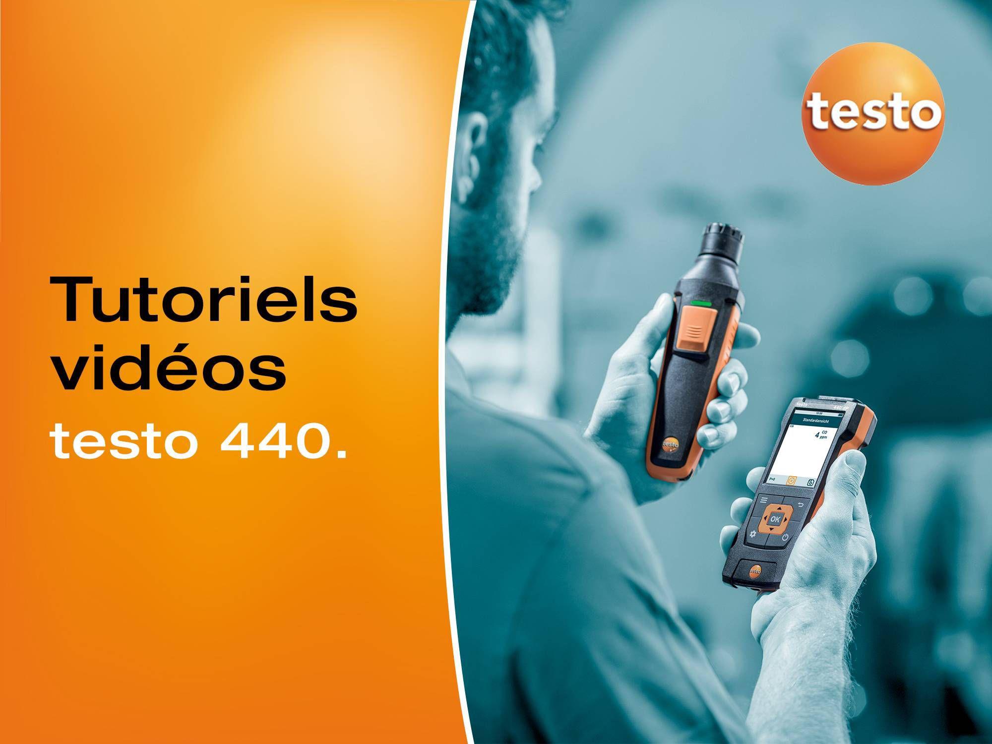 Tutoriels vidéos pour l'utilisation de l'appareil multifonctions pour l'aéraulique testo 440