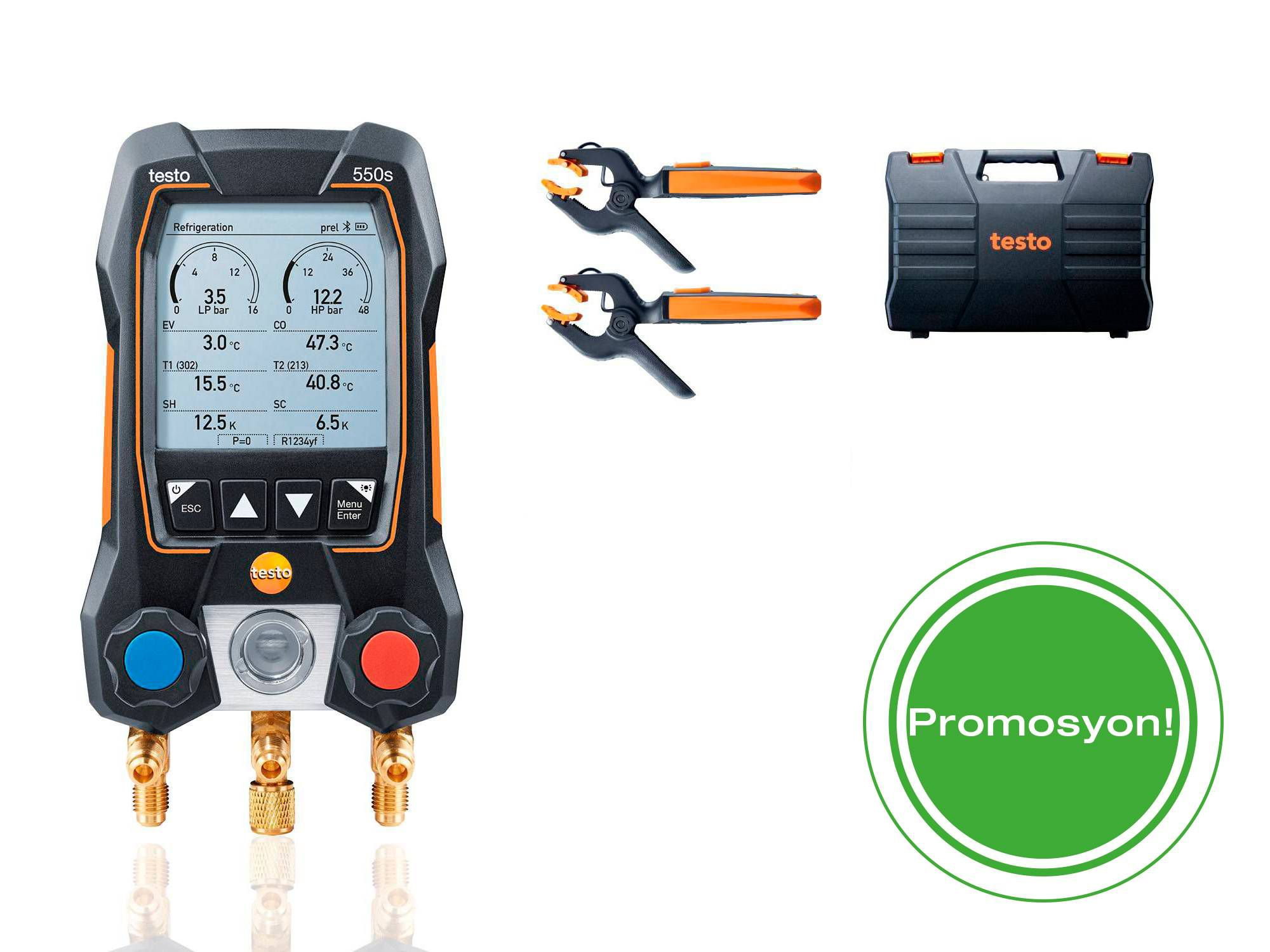 testo 550s Smart Kit with filling hoses