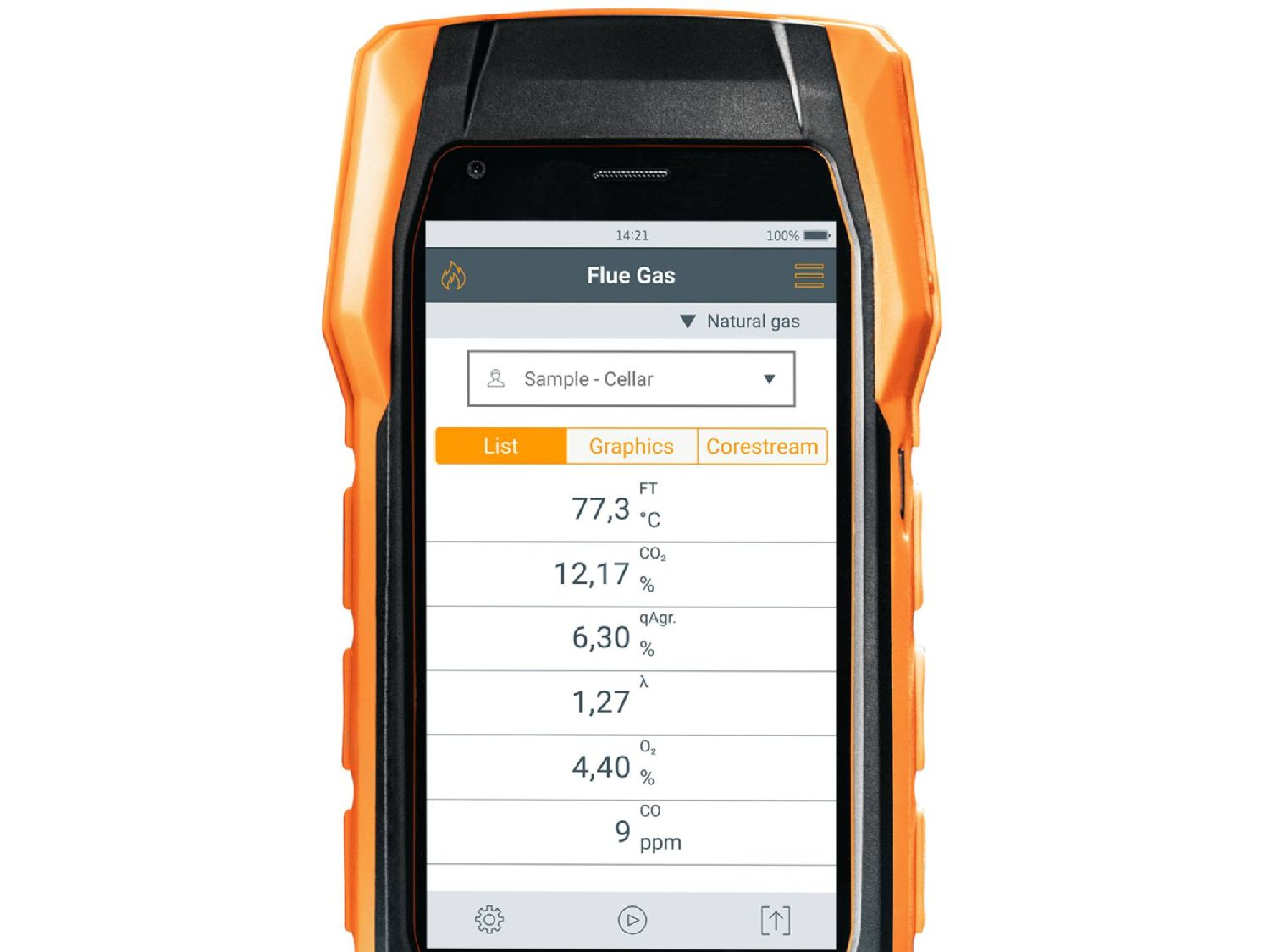 Flue gas measurement with the testo 300