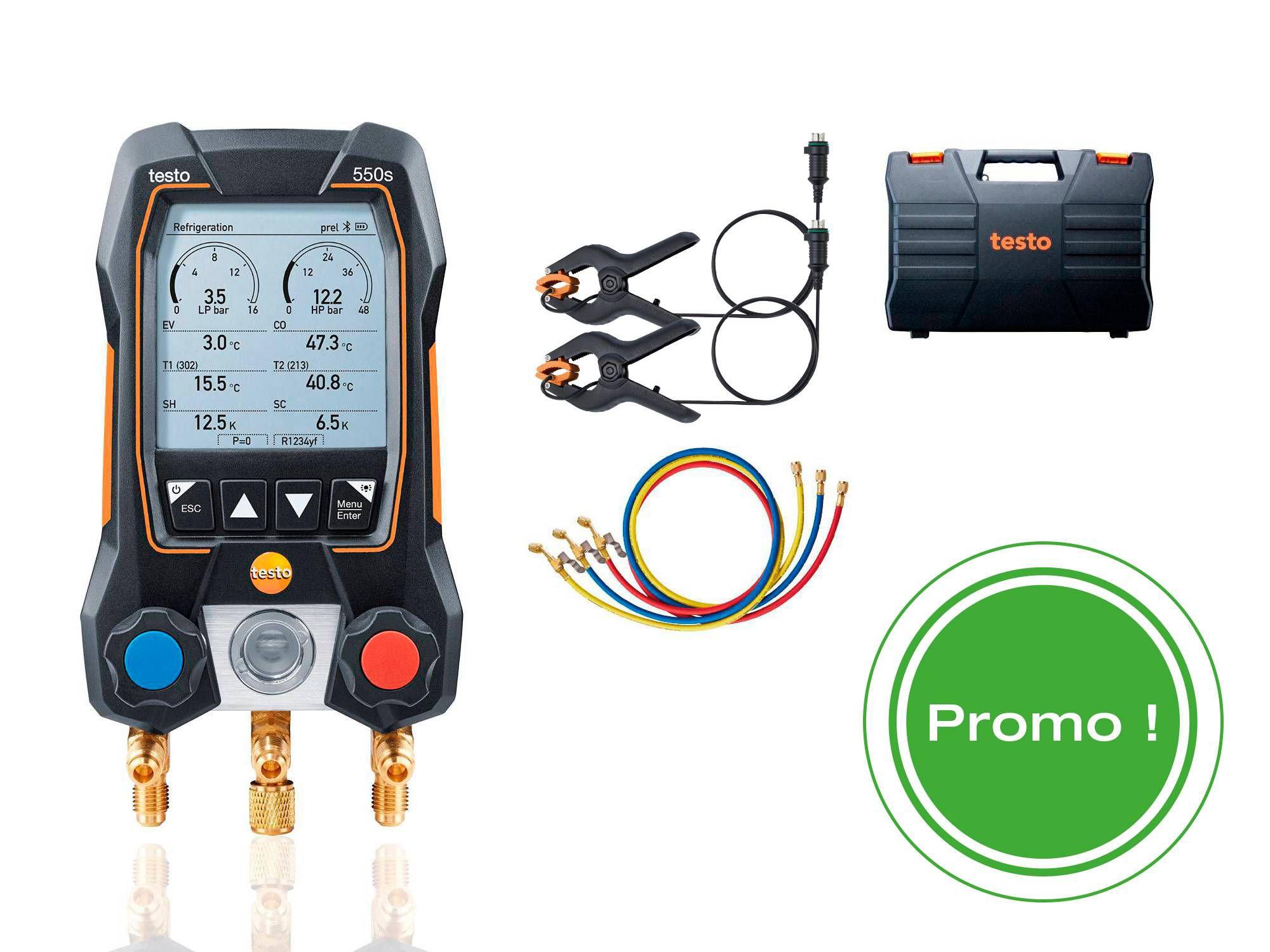 testo 550s kit Smart avec jeu de flexibles