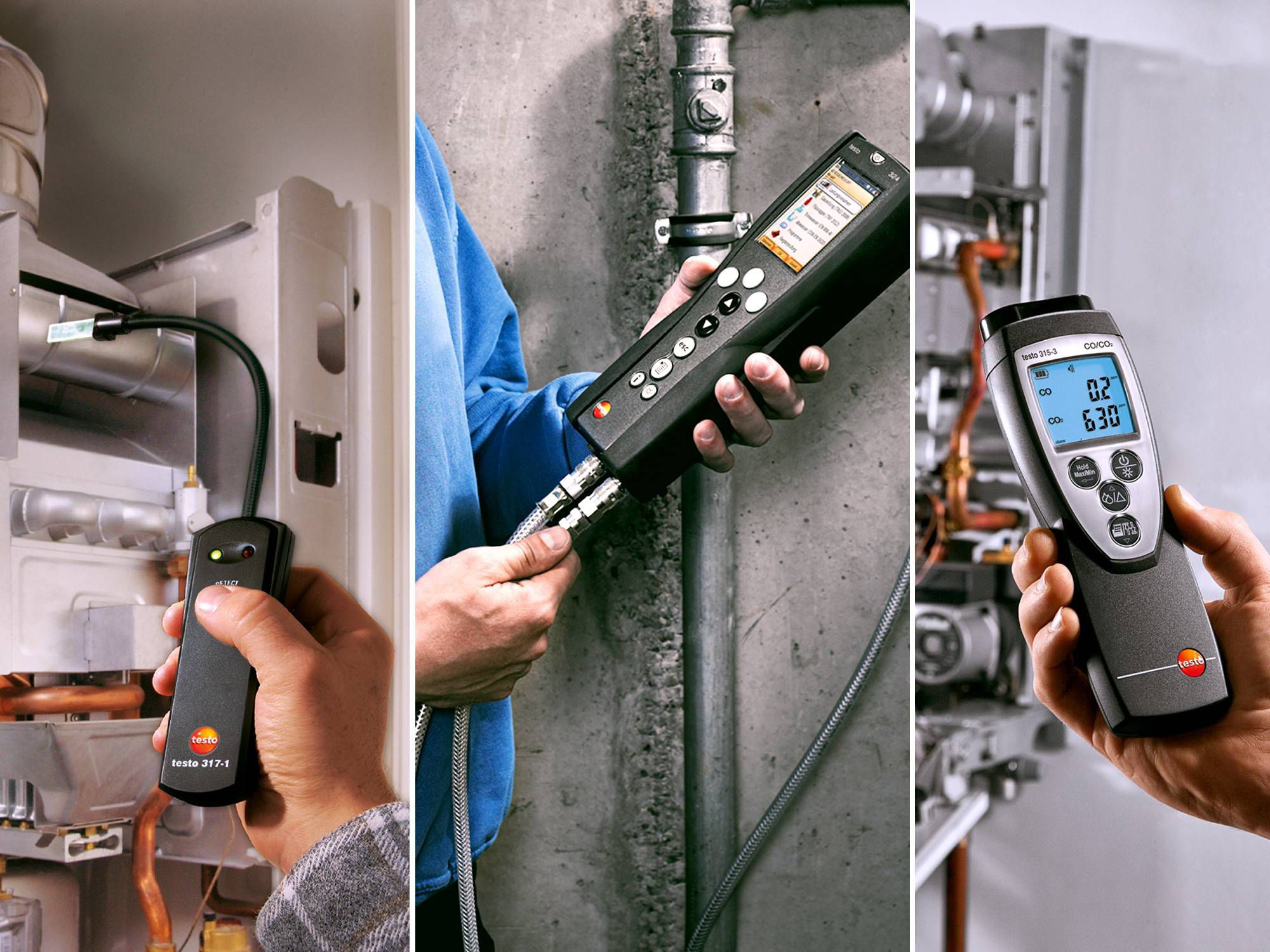 Testo exhaust gas measurement