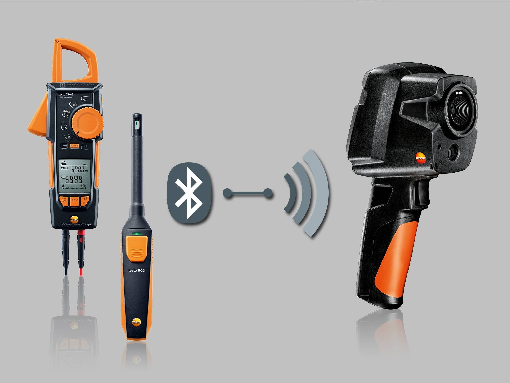 Connectivity with testo 605i and testo 770-3