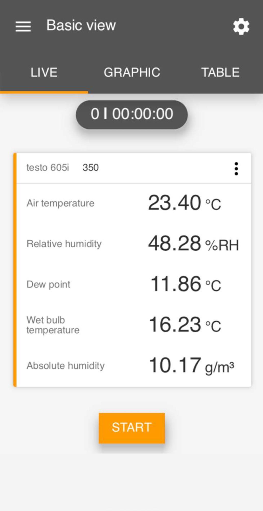 Aplicativo Testo Smart Screen Smart Probes