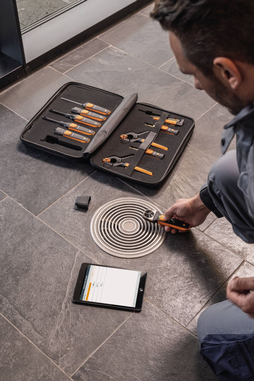 aplicación testo Smart Probes HVAC set
