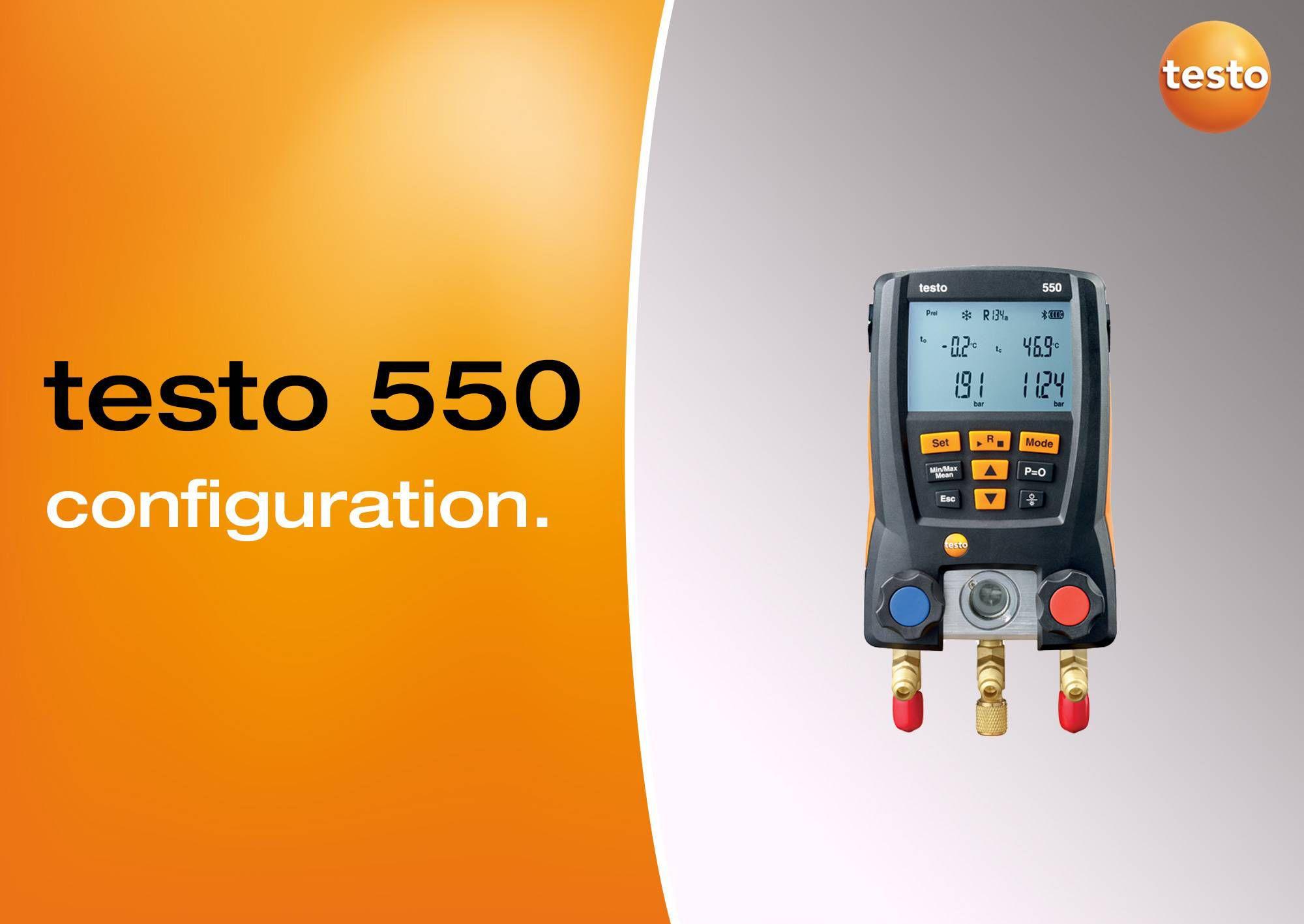Tutoriel vidéo configuration monomètre testo 550