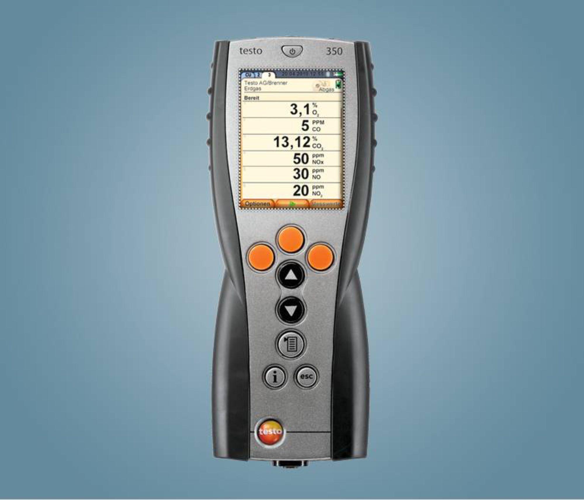 testo 350 烟气分析仪蓝色新版 - 手操器