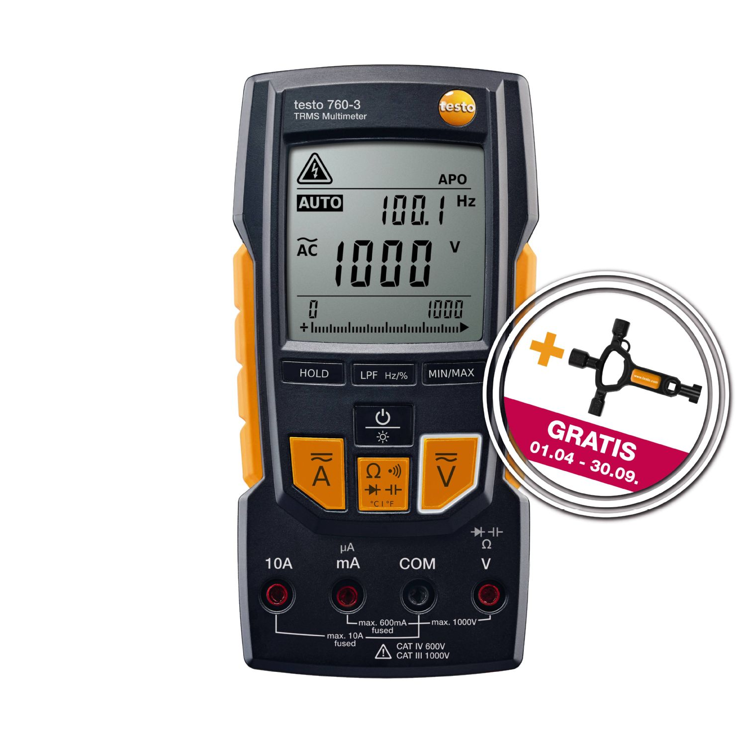 testo 760-3 Digital-Multimeter mit gratis Zugabe
