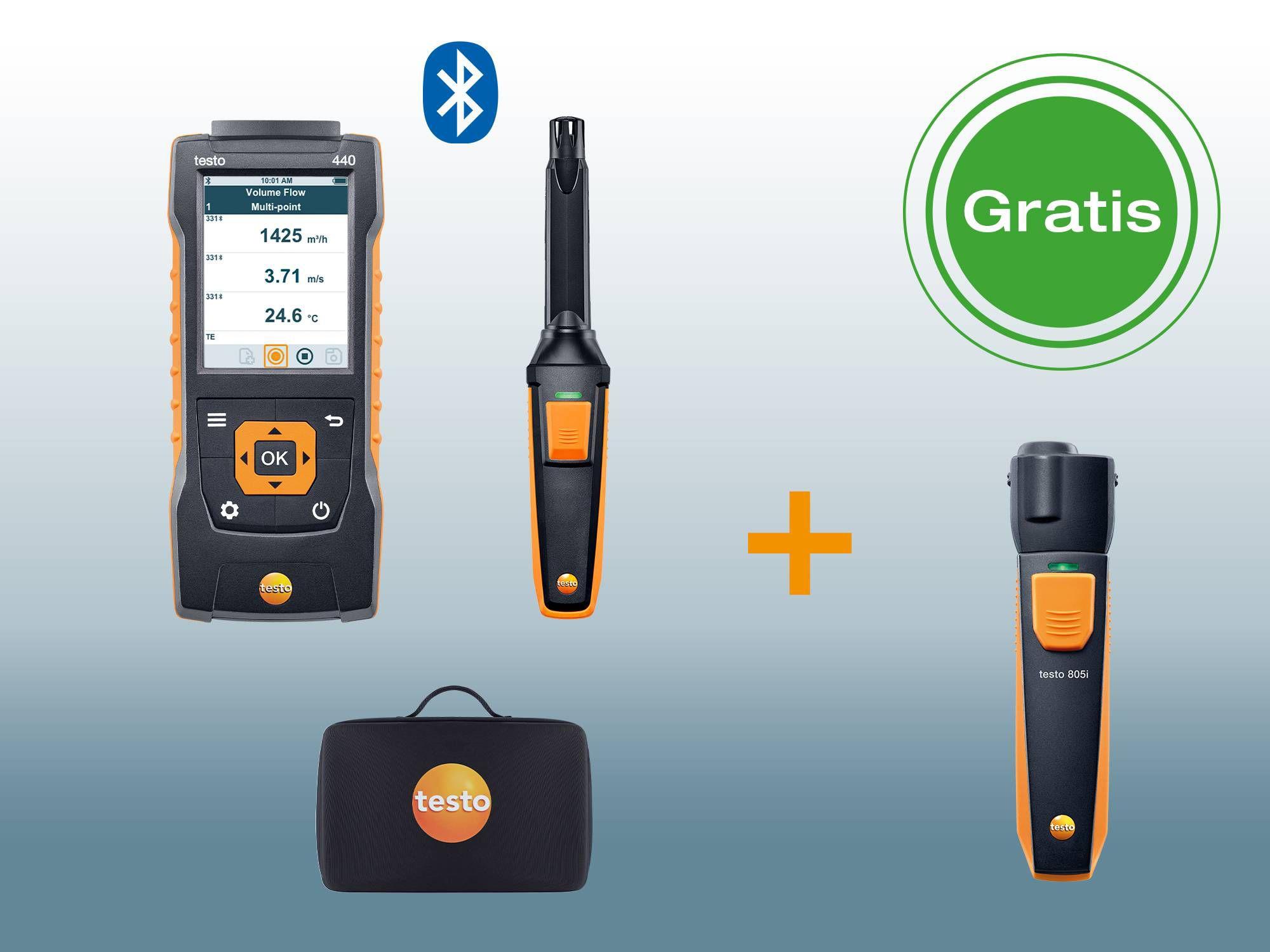 testo 440 CO2 kit Bluetooth®