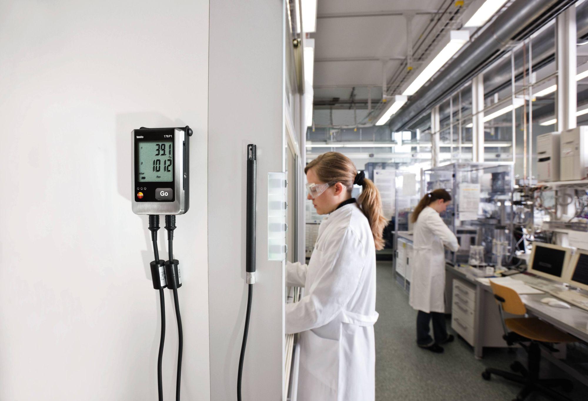 El testo 176 P1 en aplicación para laboratorios