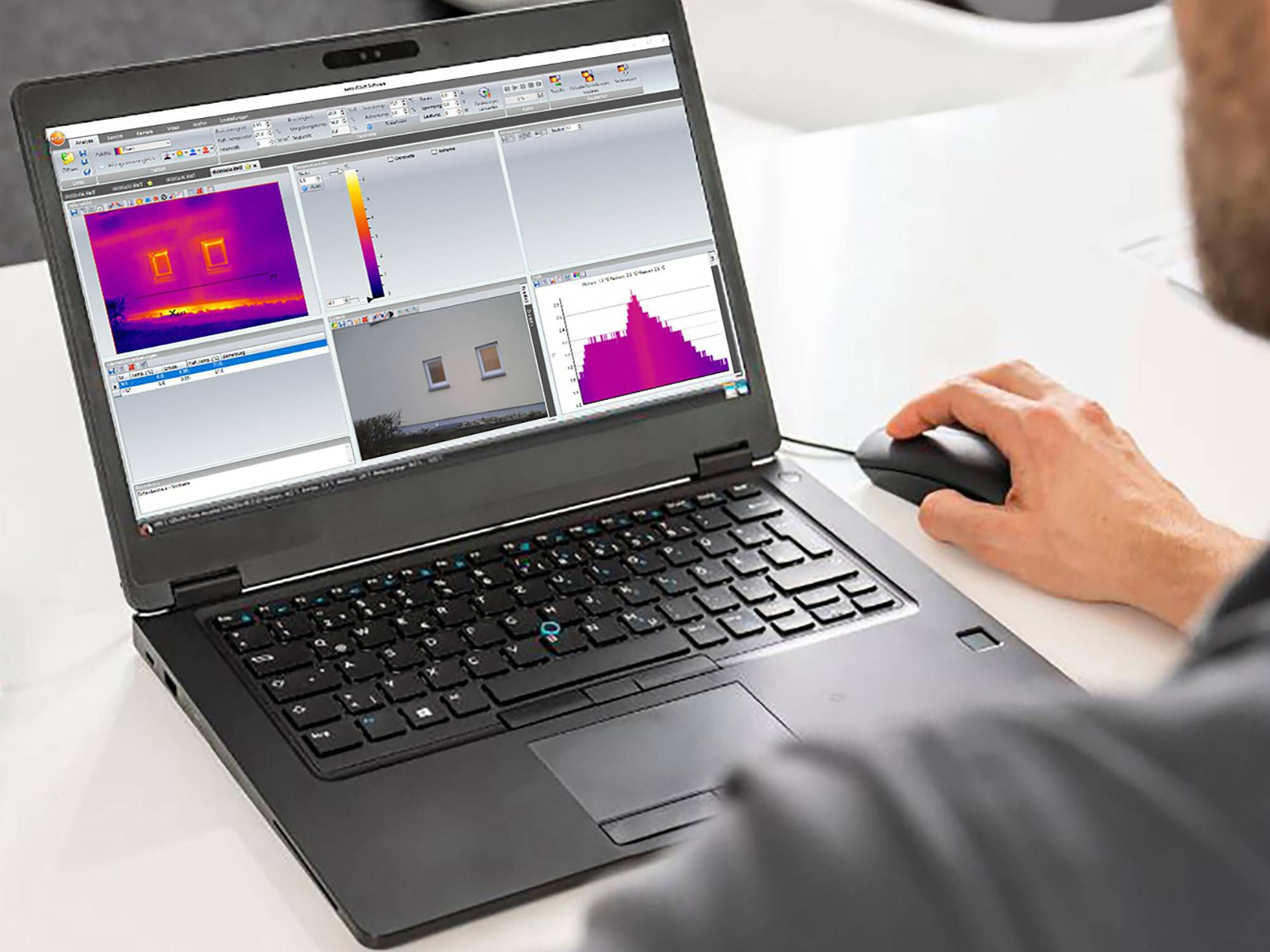 Use of testo IRSoft software