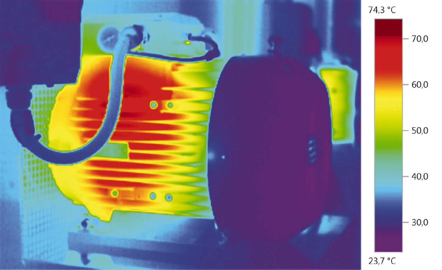 Thermal image mechanical component