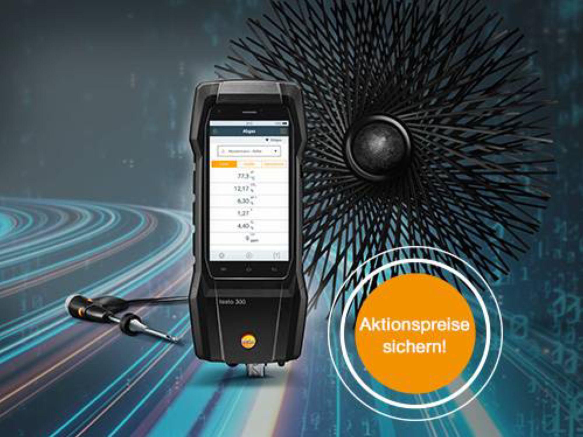 Abgas-Messgerät testo 300 SE Longllife im Set zum Aktionspreis