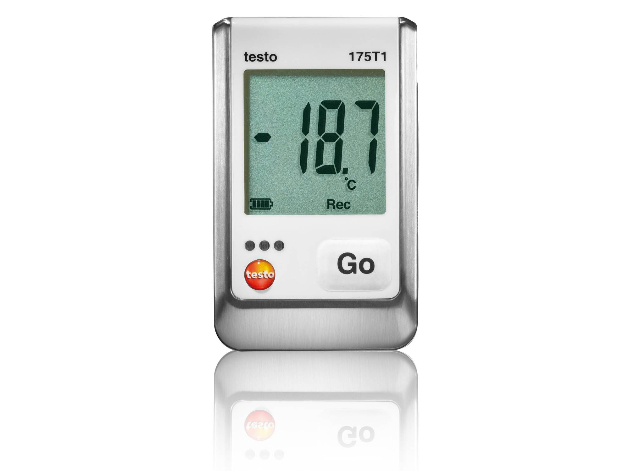 Temperatuur-datalogger voor de opslag van levensmiddelen testo 175 T1