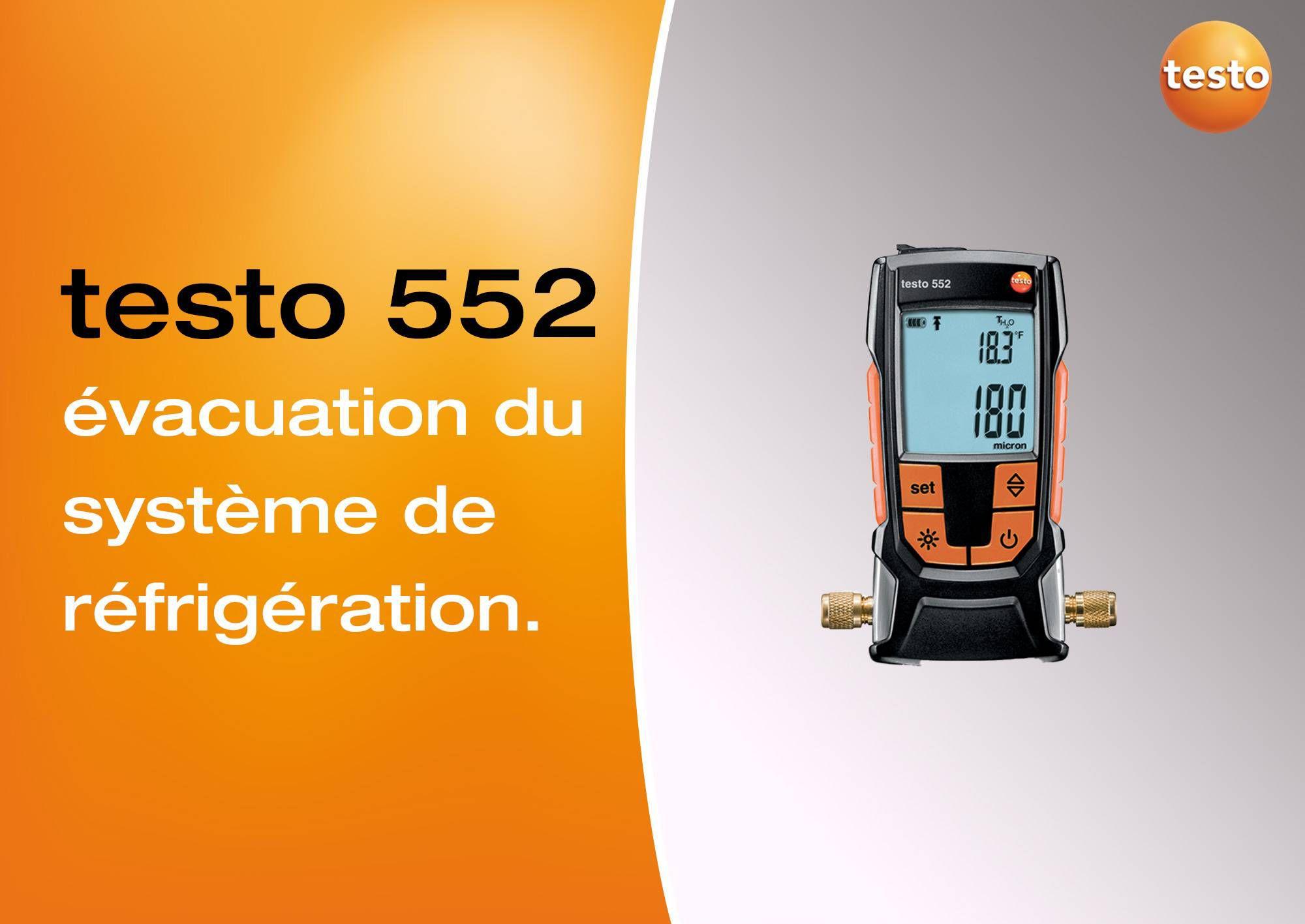 Tutoriel vidéo évacuation du système de réfrigération vacuomètre testo 552