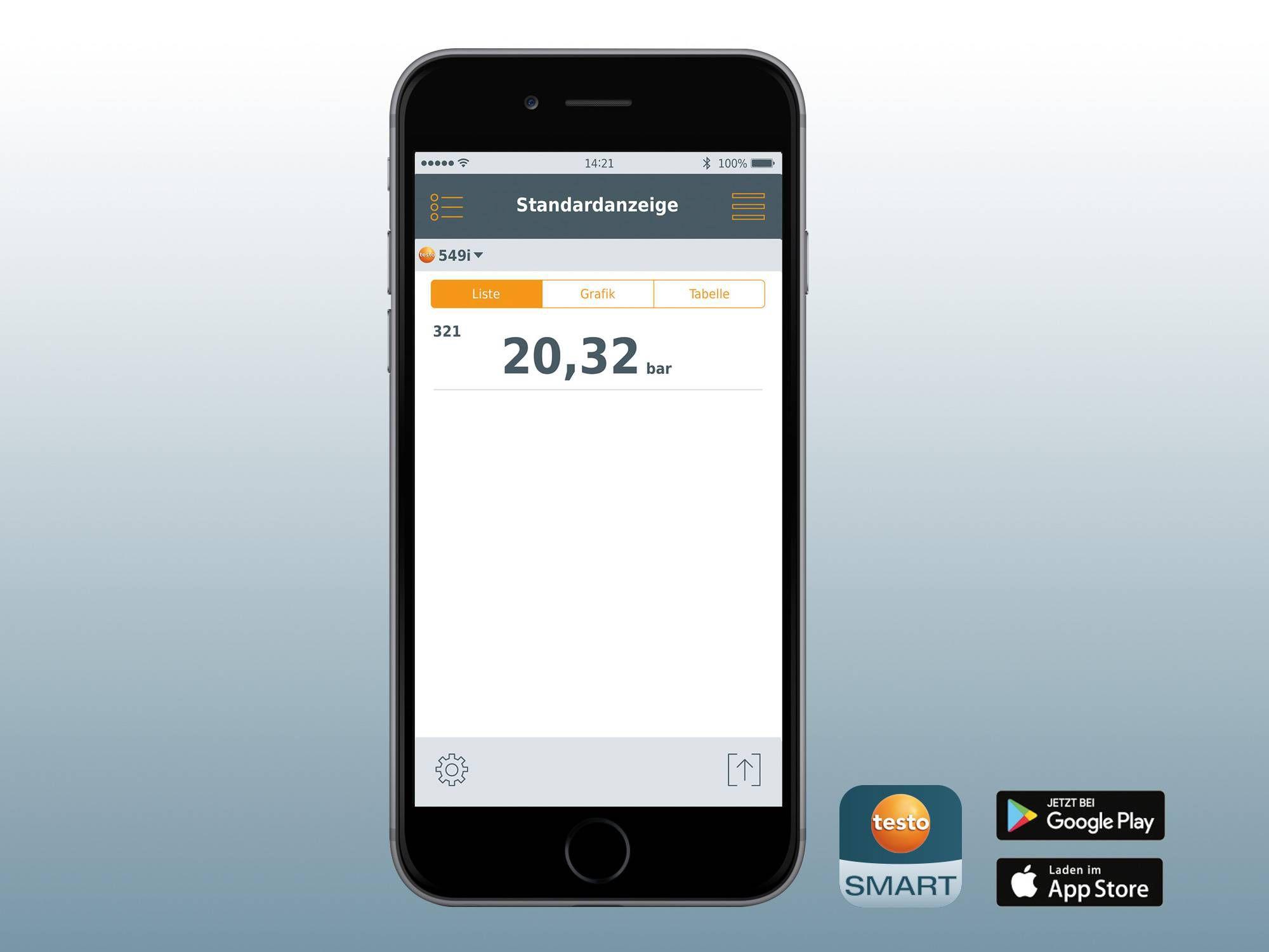 Hochdruckmessgerät mit Smartphone-Bedienung