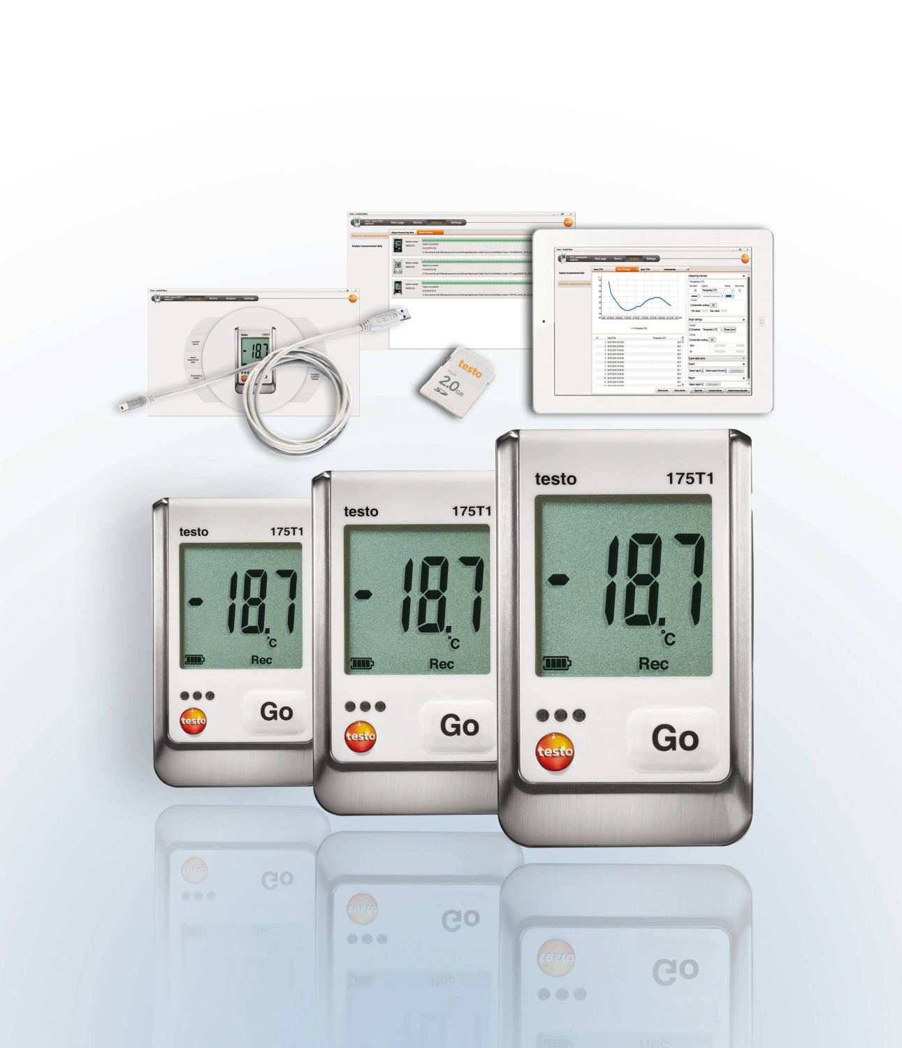 Set data loggers testo 175 T1