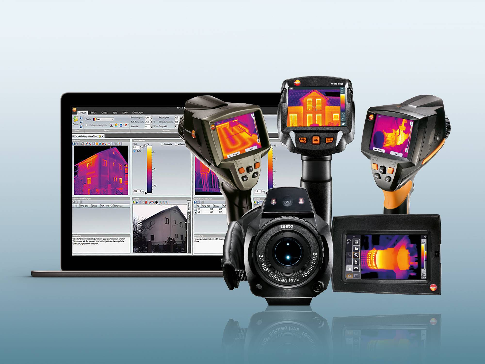 Thermal imagers Testo with IRSoft